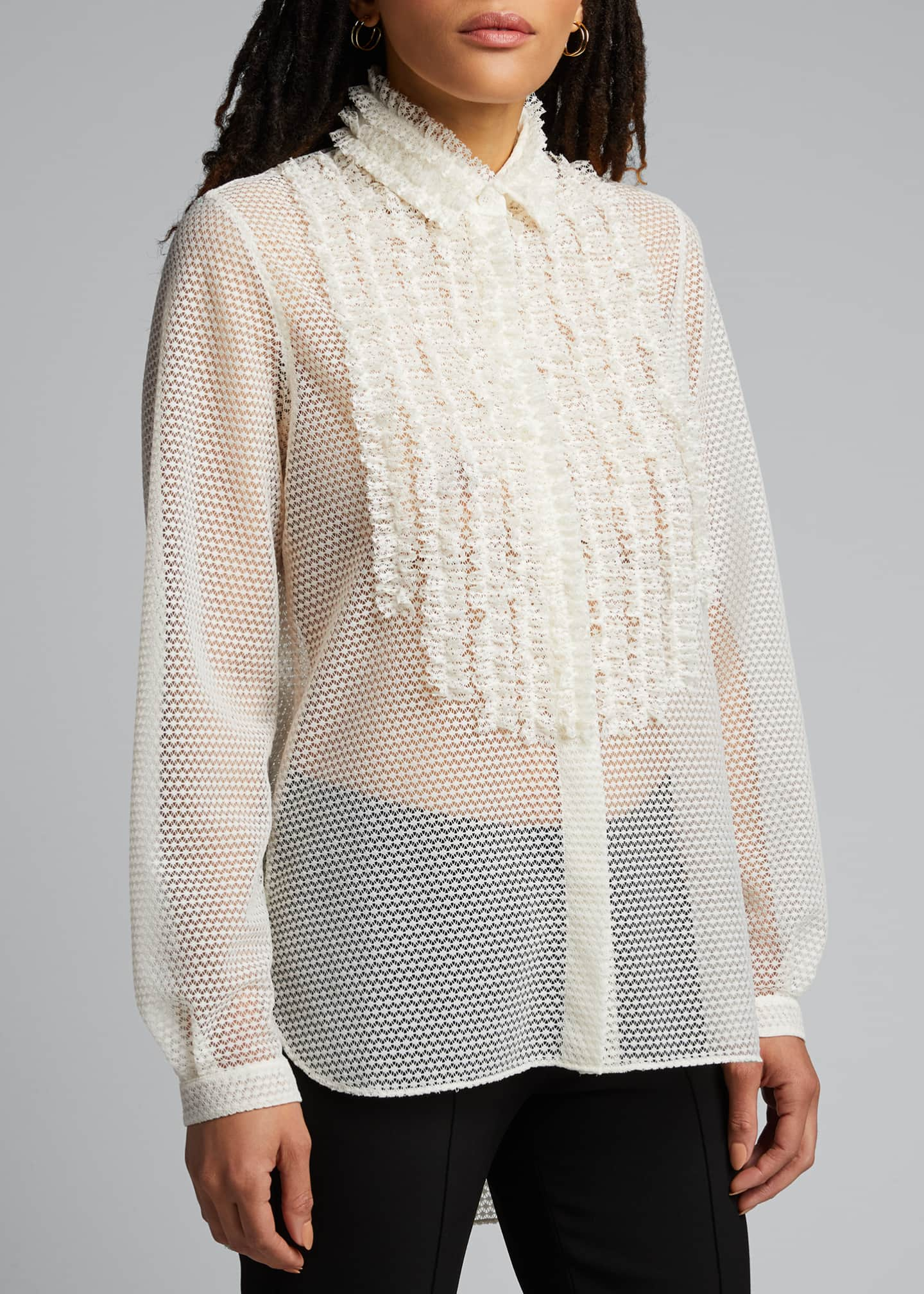 Image 3 of 5: Sakura Dotted Lace Shirt
