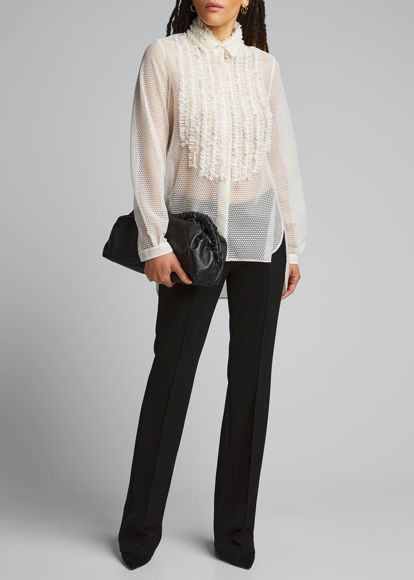Image 1 of 5: Sakura Dotted Lace Shirt