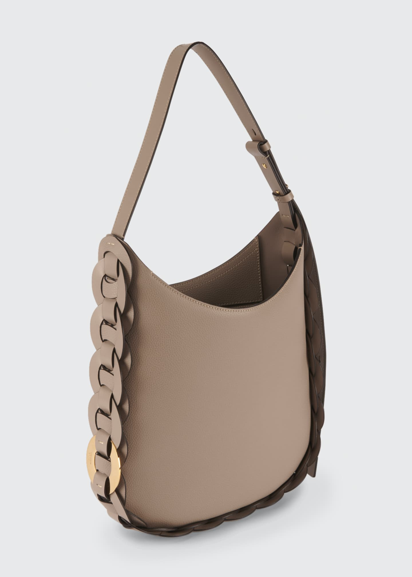 Image 3 of 5: Darryl Medium Leather Hobo Bag