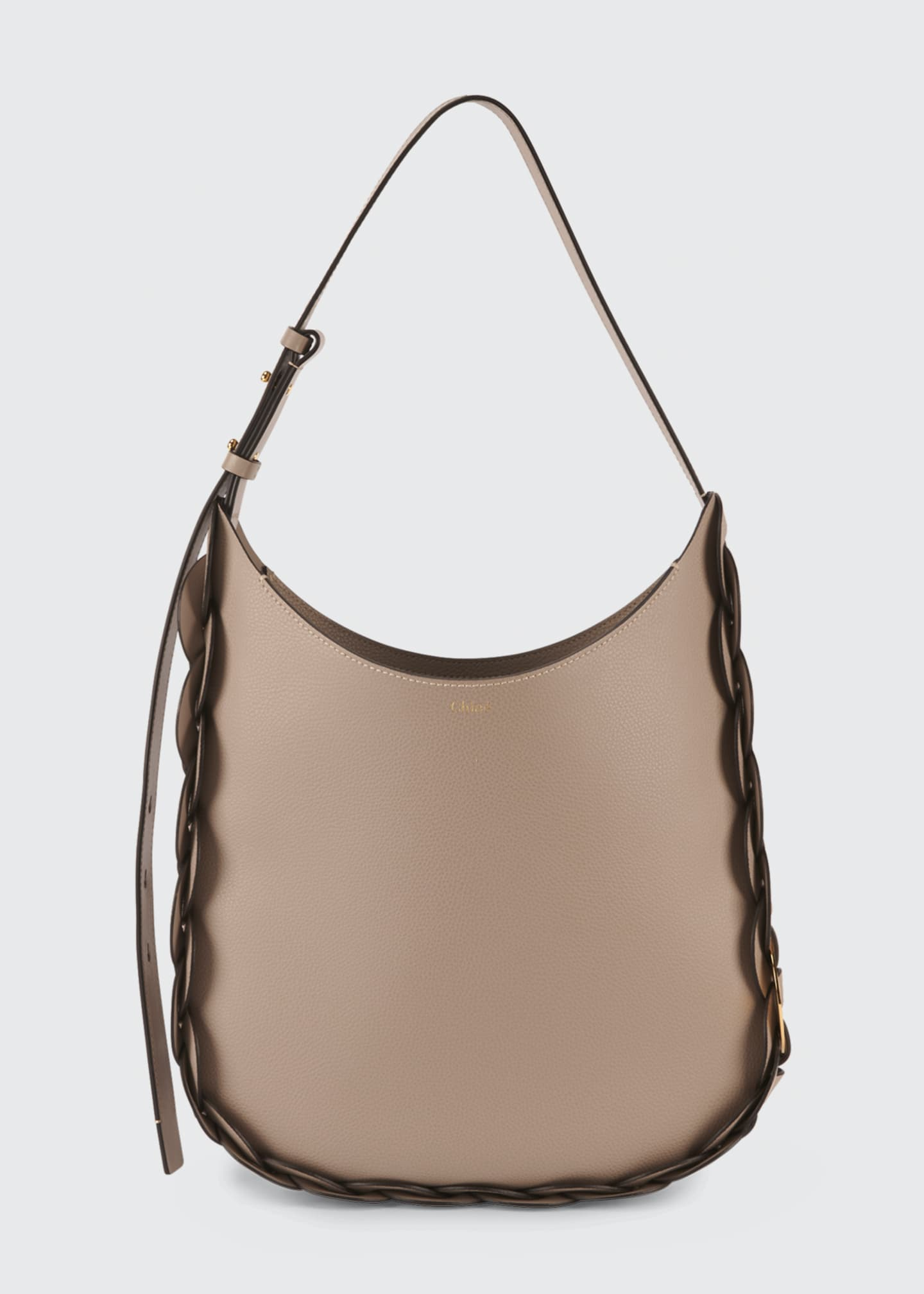 Image 1 of 5: Darryl Medium Leather Hobo Bag