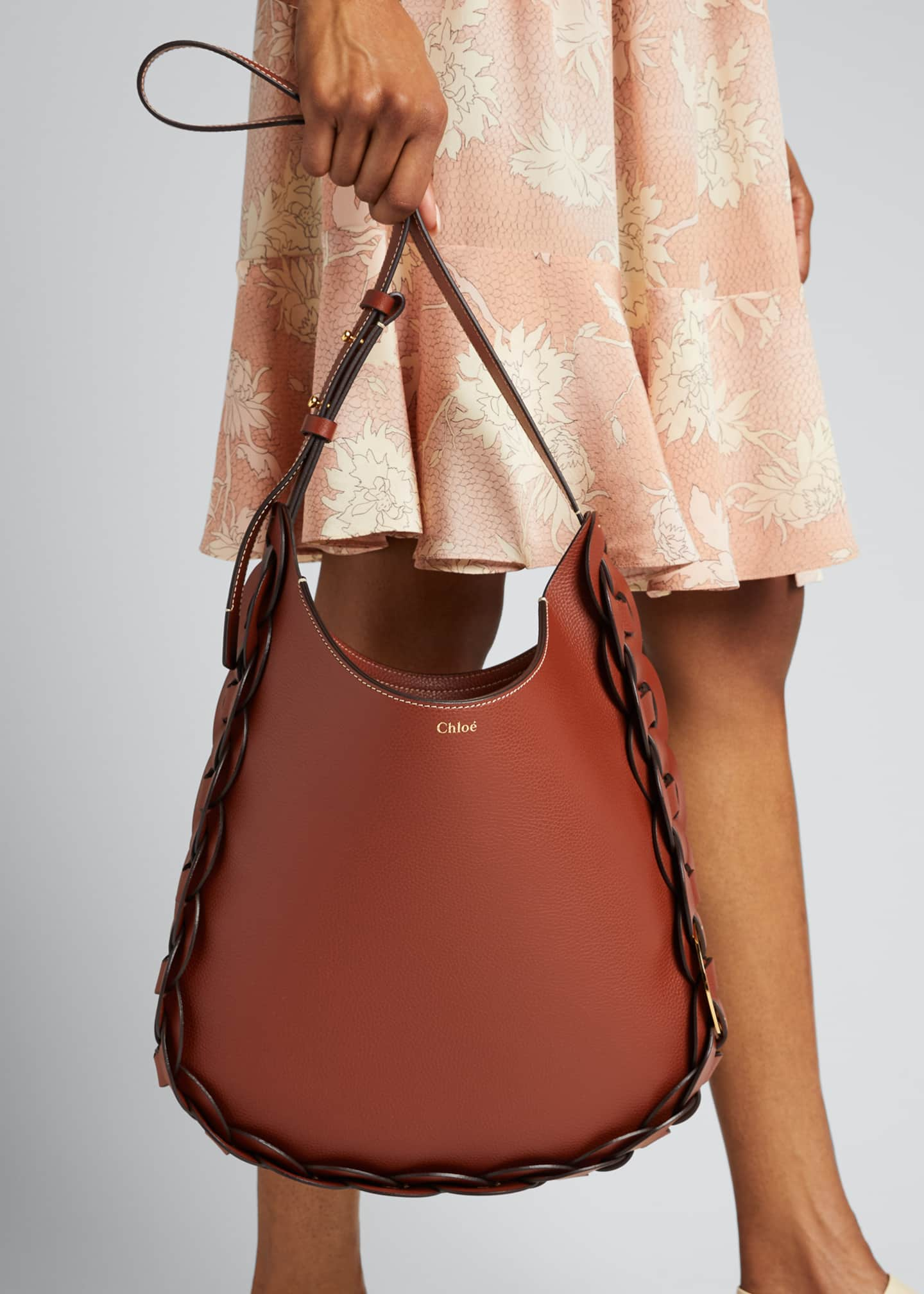 Image 2 of 5: Darryl Medium Leather Hobo Bag