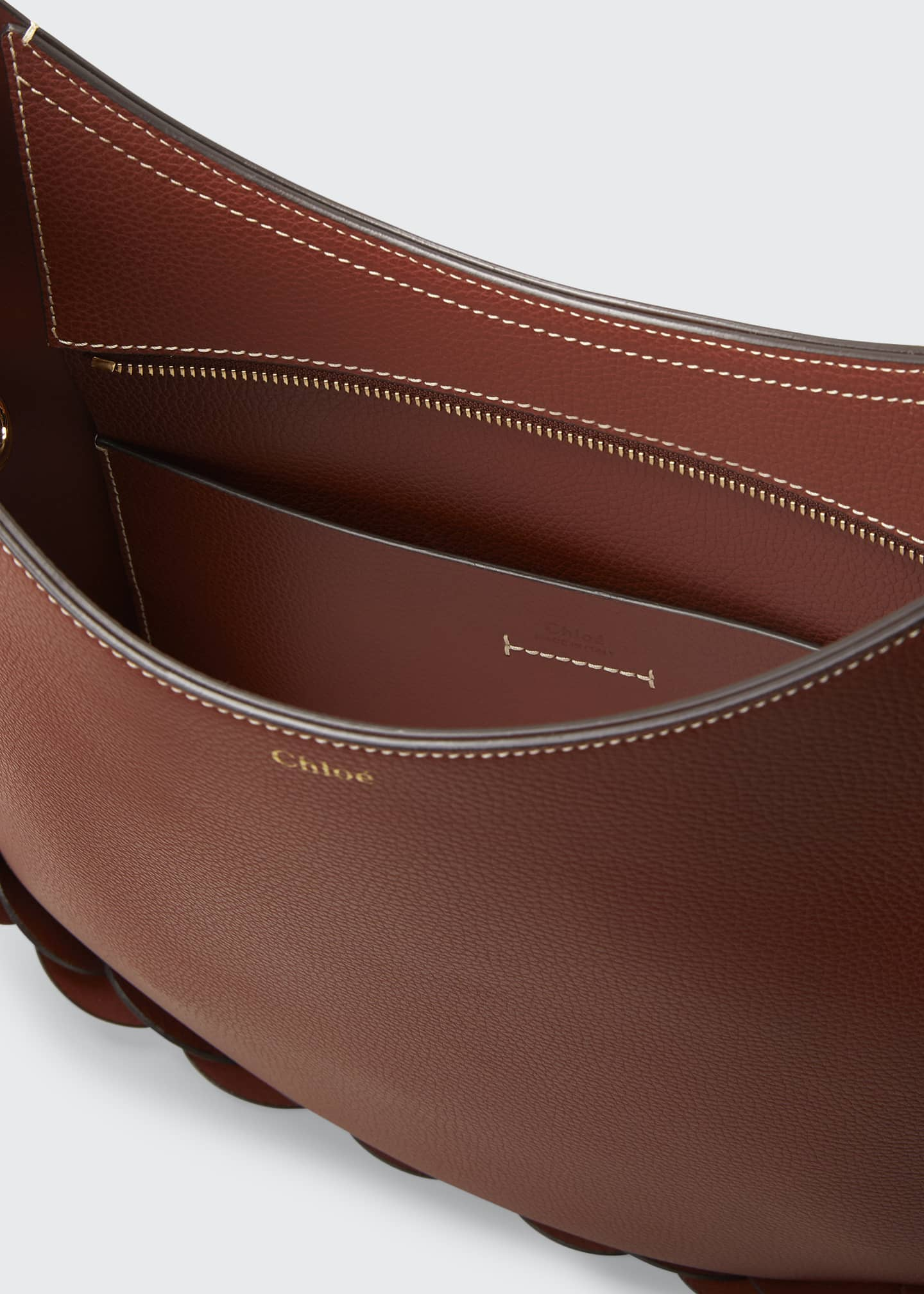 Image 4 of 5: Darryl Medium Leather Hobo Bag