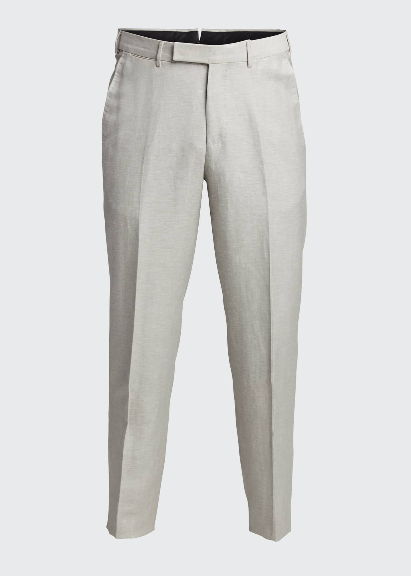 Image 5 of 5: Men's Flat-Front Linen Pants