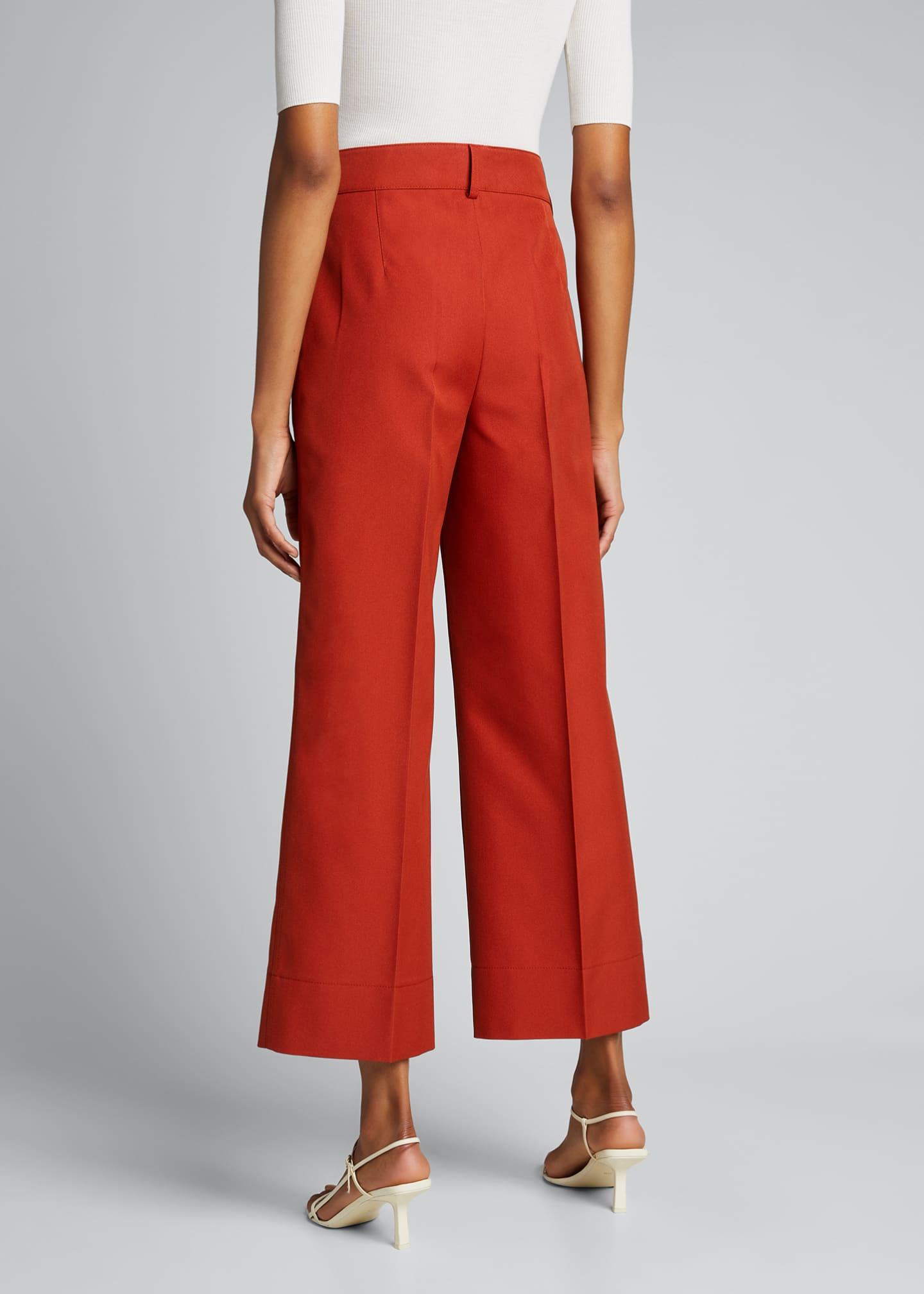 Image 2 of 5: Chiara Mercerized Cotton Culotte Pants