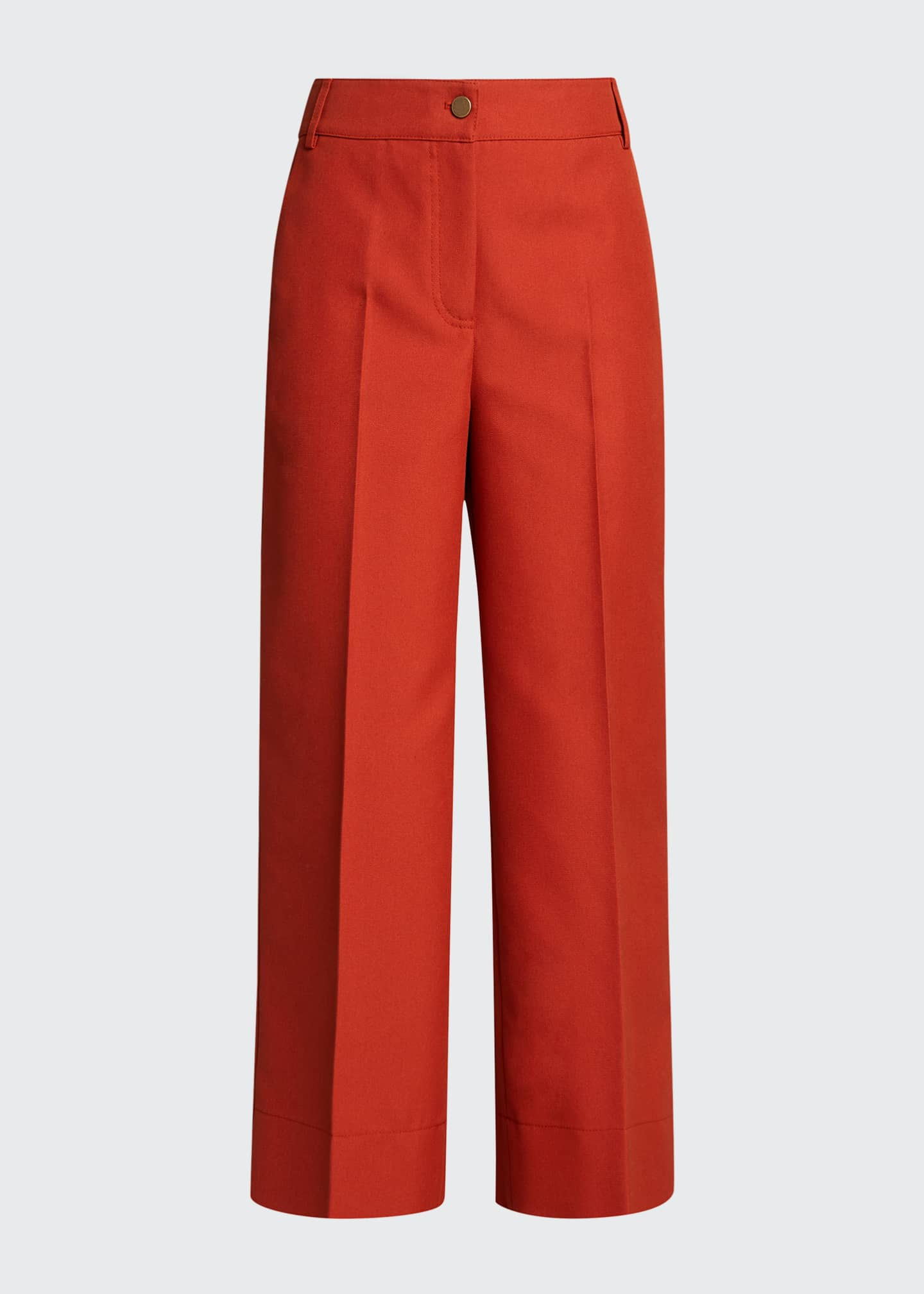 Image 5 of 5: Chiara Mercerized Cotton Culotte Pants