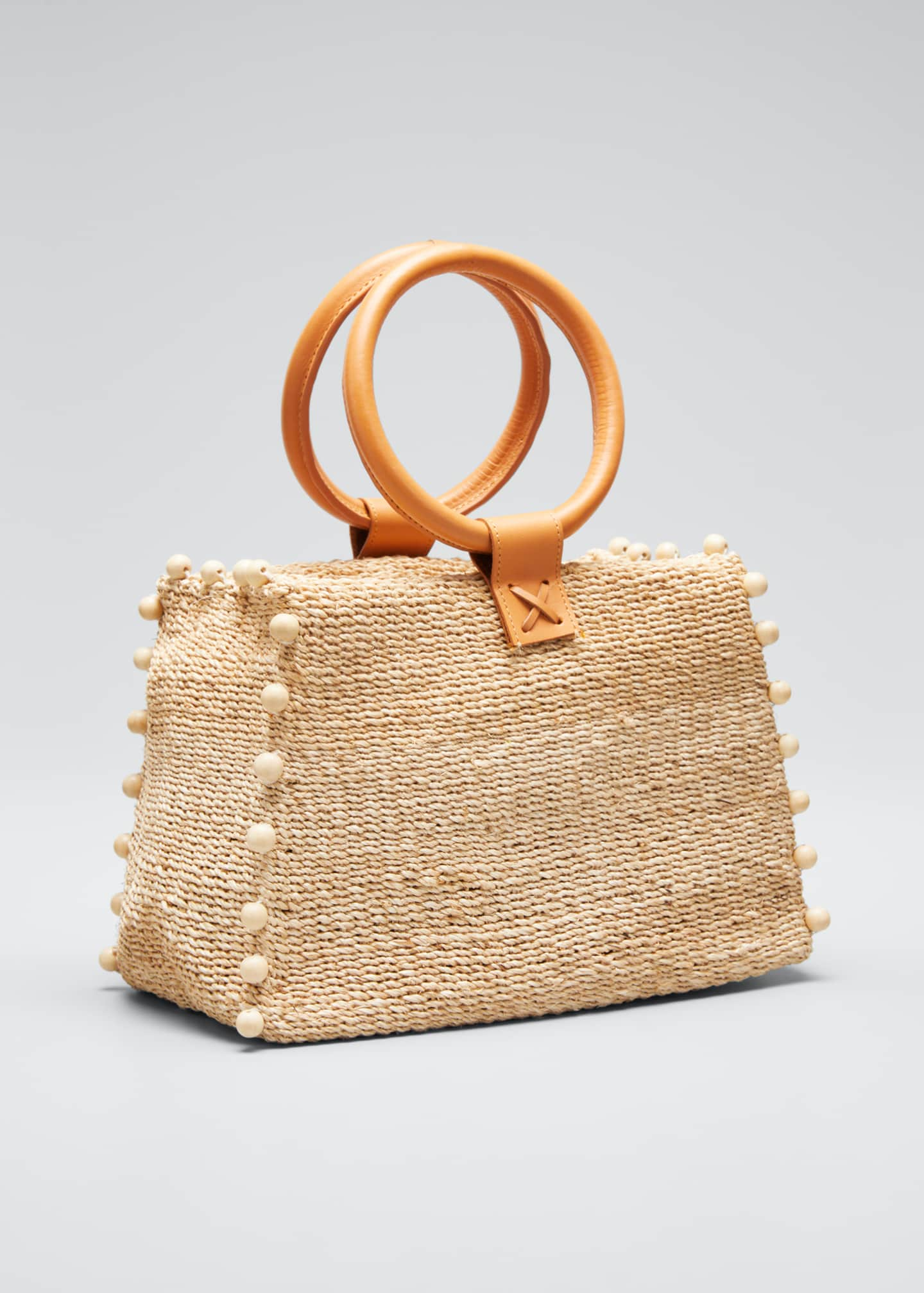 Image 3 of 5: Perry Mini Woven Tote Bag