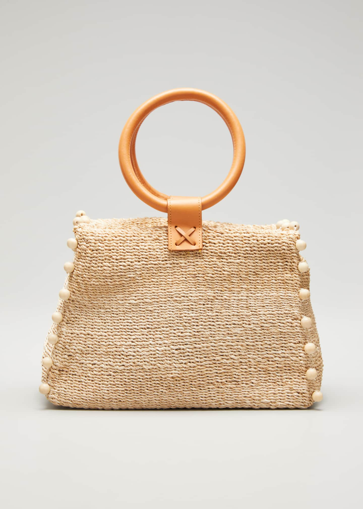 Image 1 of 5: Perry Mini Woven Tote Bag