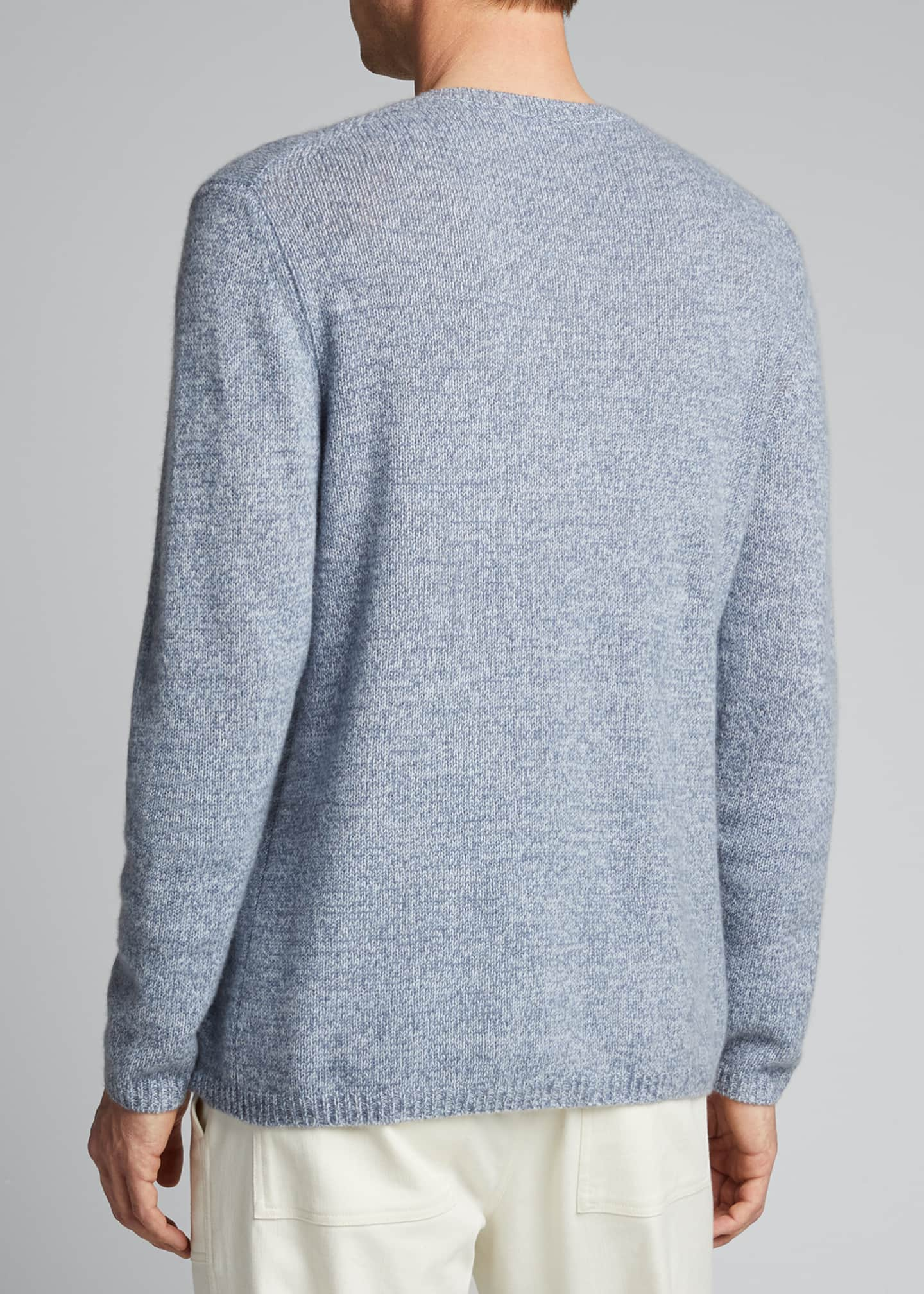 Image 2 of 5: Men's Solid Cashmere Crewneck Sweater