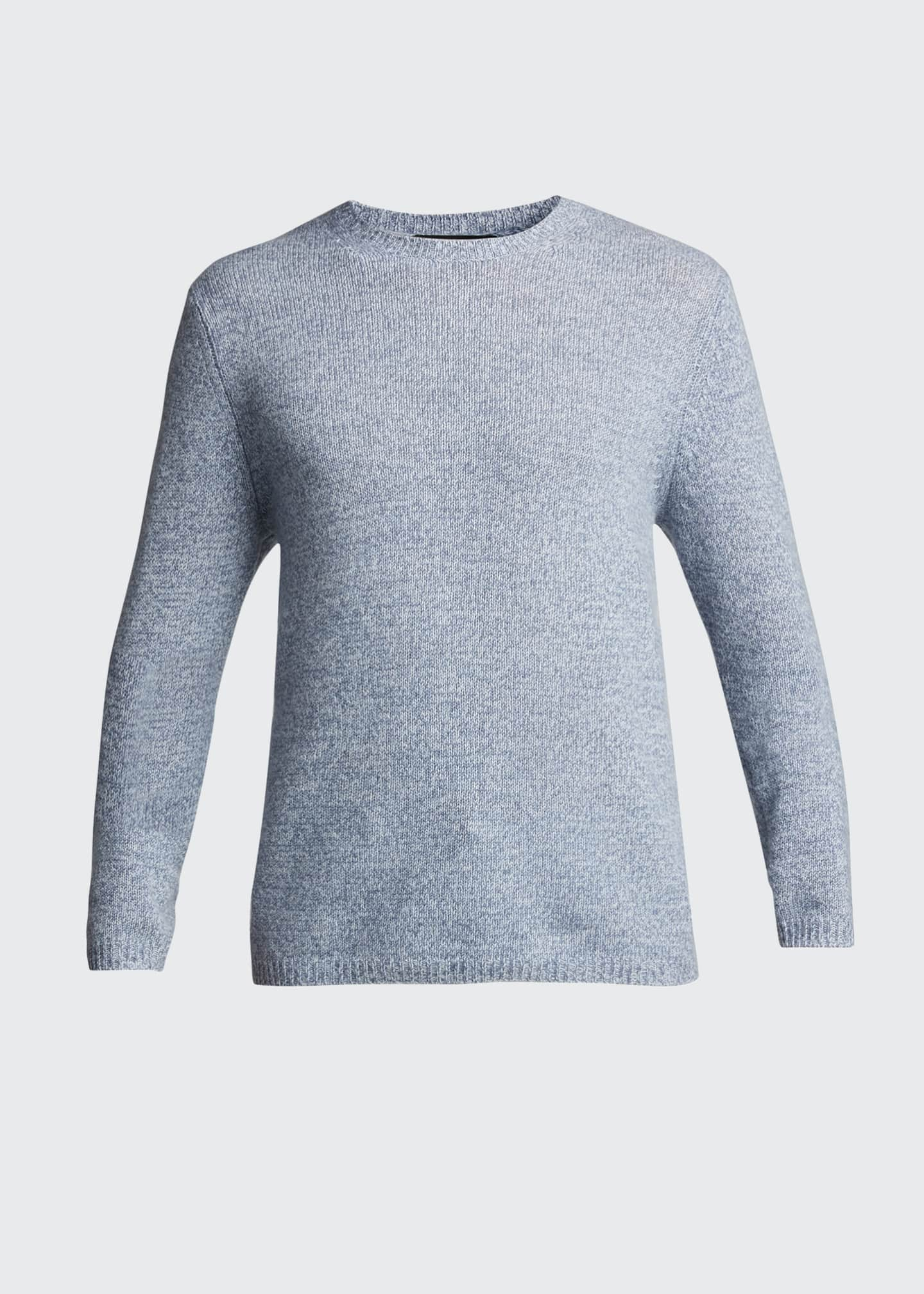 Image 5 of 5: Men's Solid Cashmere Crewneck Sweater