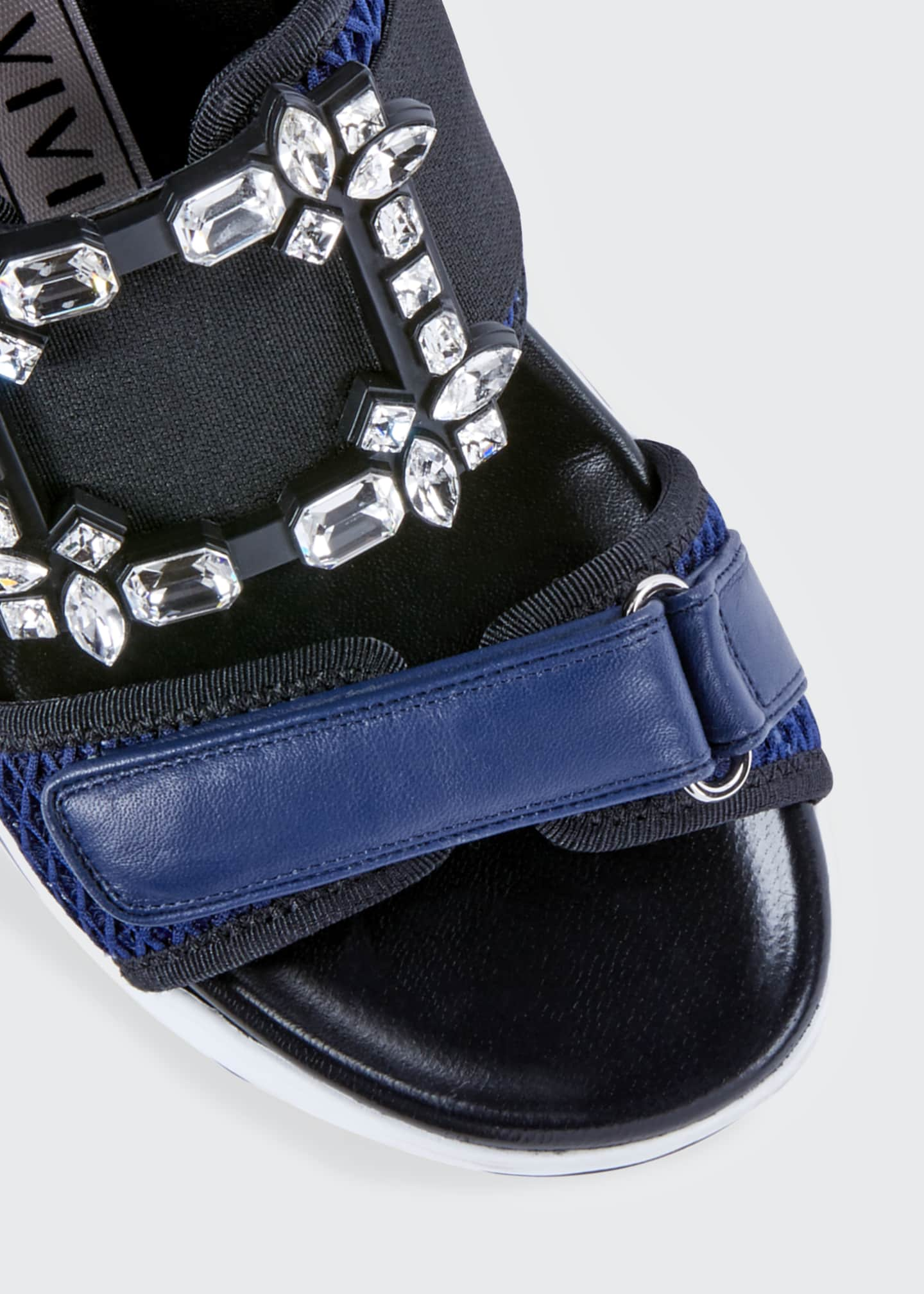 Image 3 of 3: Viv' Run Strass Buckle Sandals