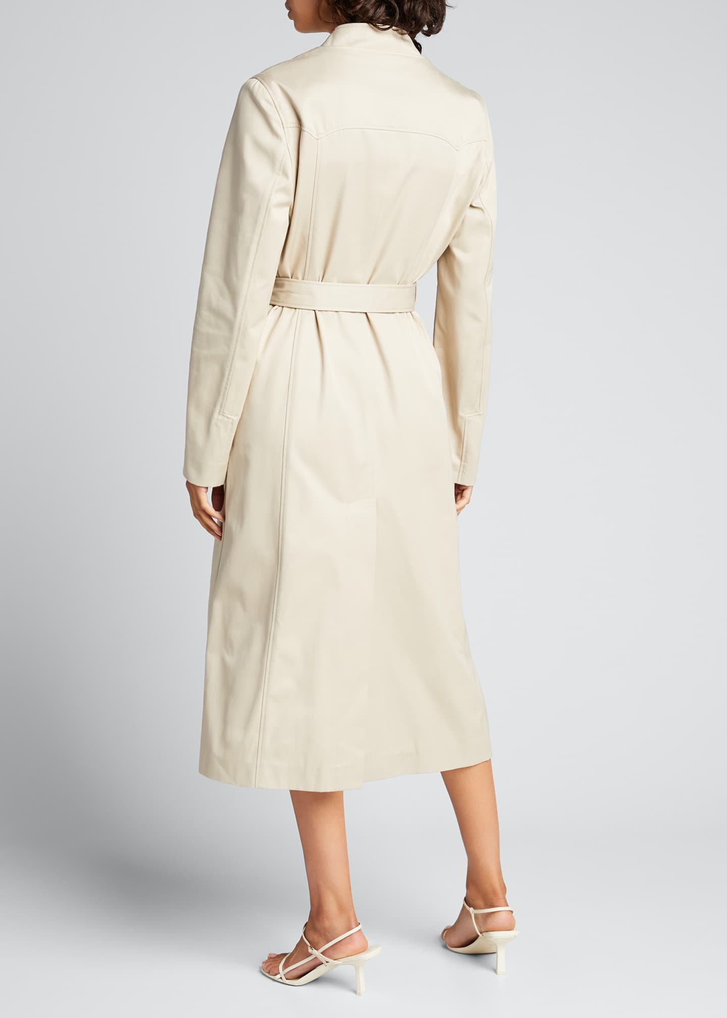 Image 2 of 5: Trompe L'Oeil Belted Trench Coat
