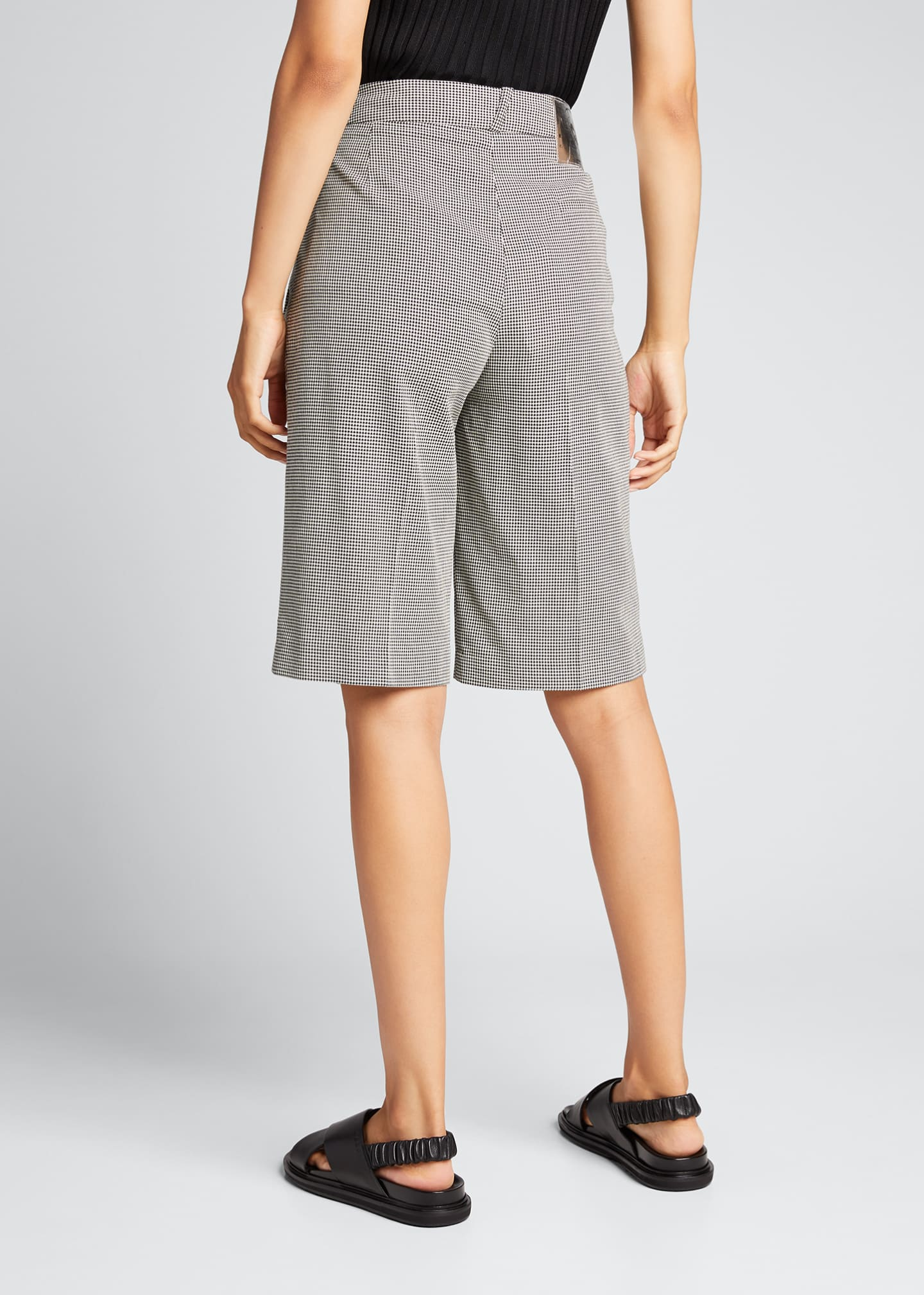 Image 2 of 5: Relaxed Houndstooth Bermuda Shorts
