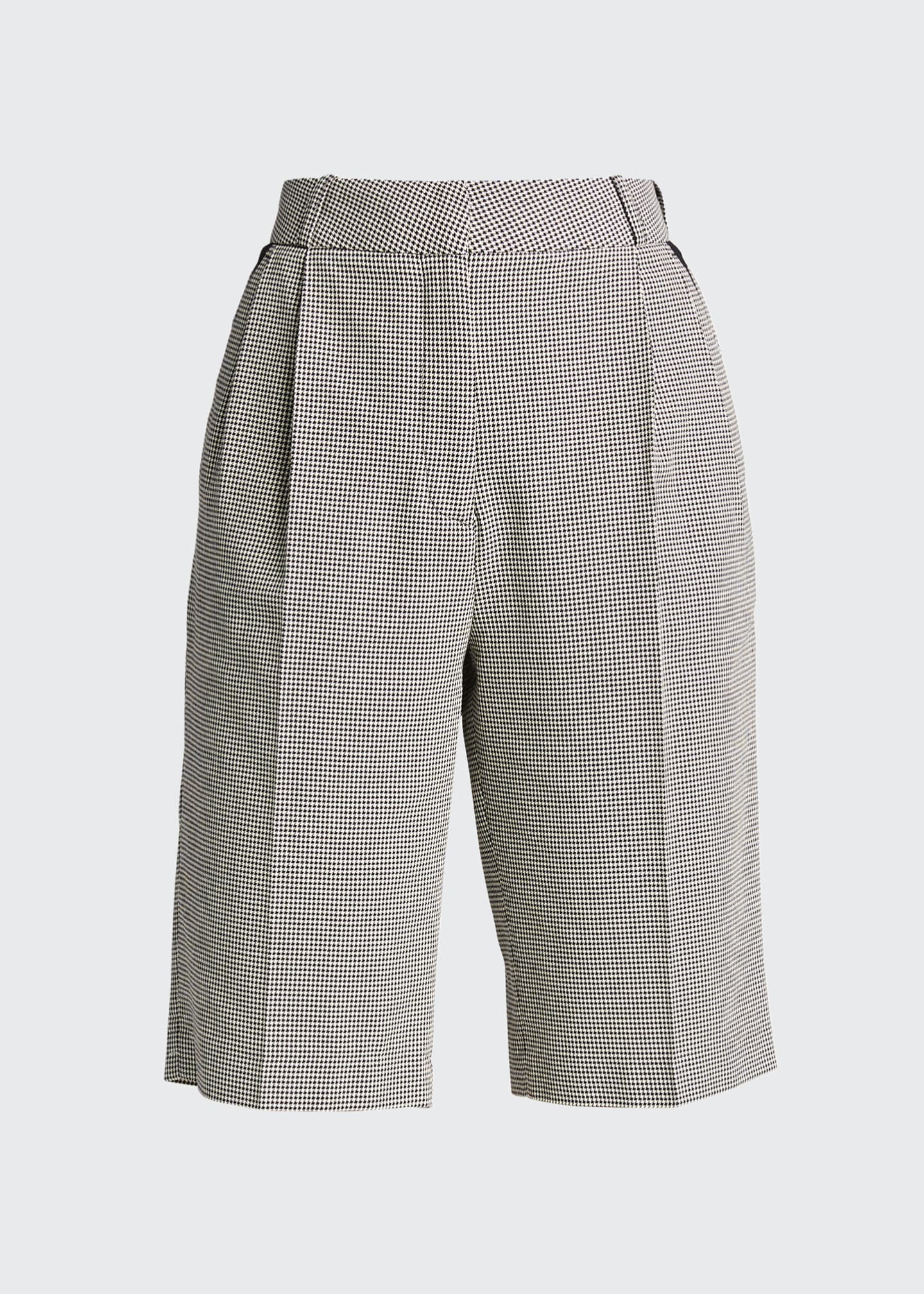 Image 5 of 5: Relaxed Houndstooth Bermuda Shorts