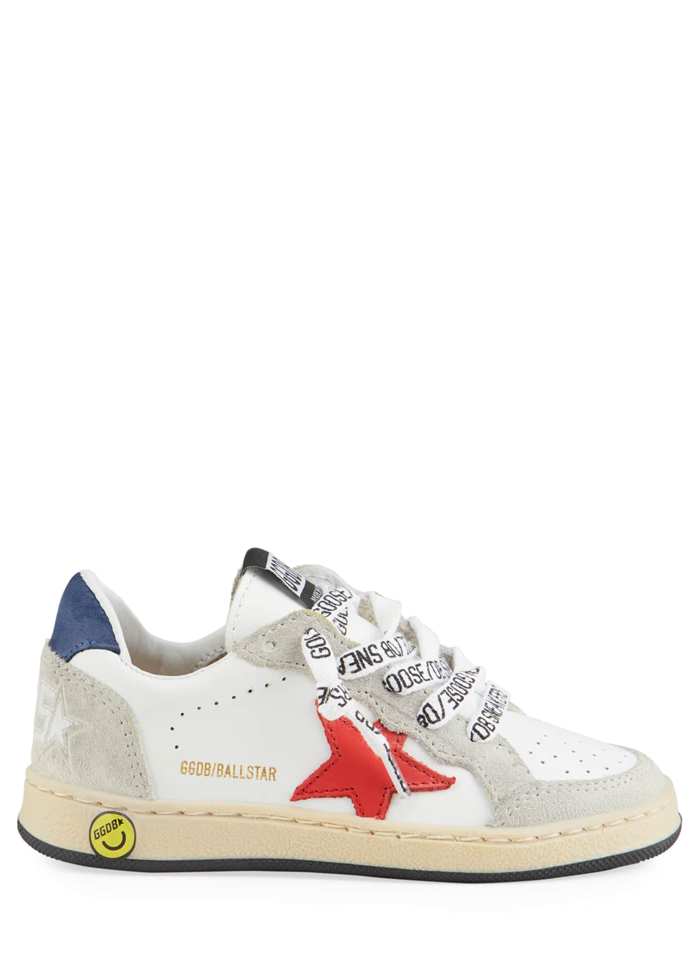 Image 2 of 4: Ball Star Leather Low-Top Sneakers, Baby/Toddler