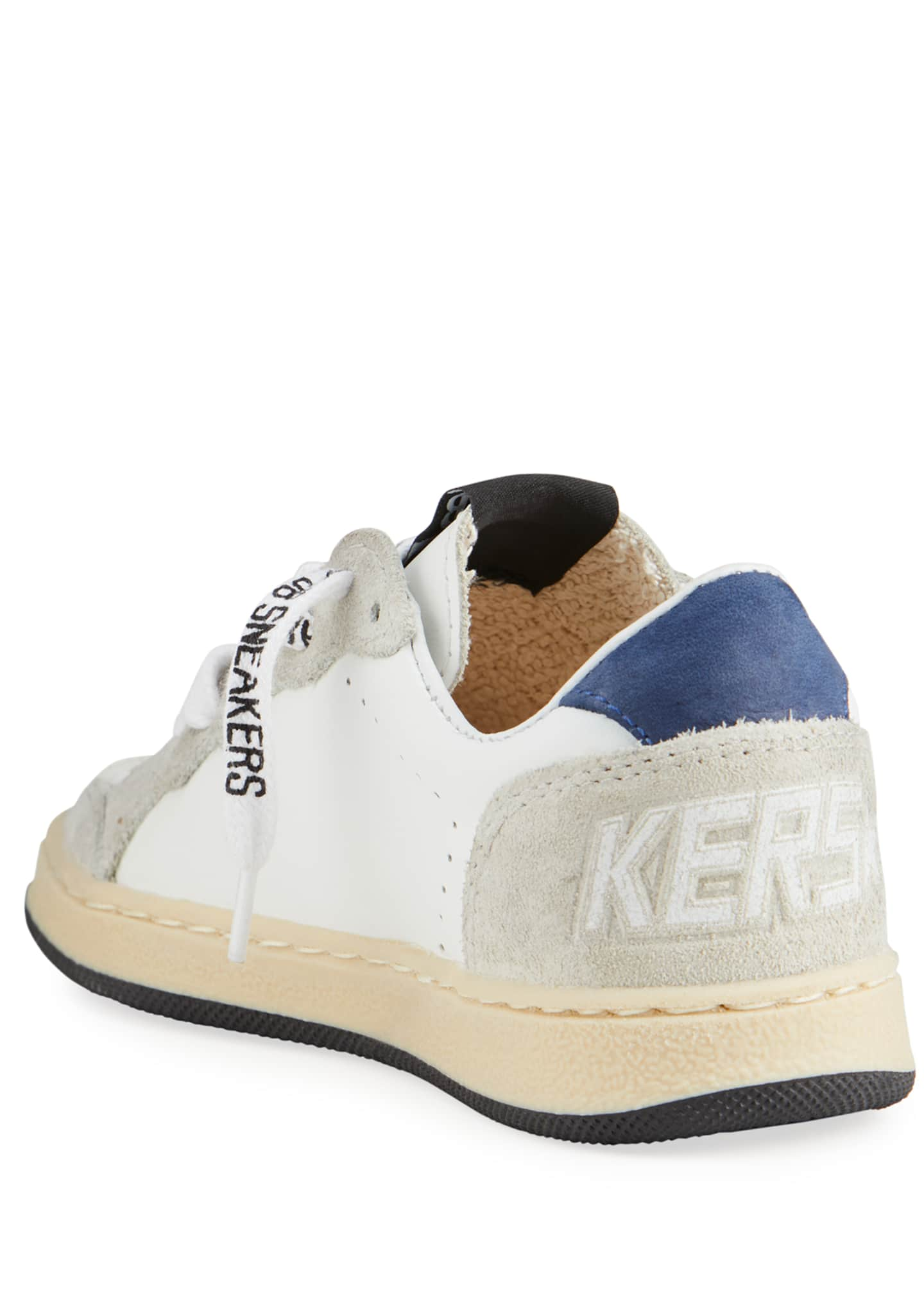 Image 4 of 4: Ball Star Leather Low-Top Sneakers, Baby/Toddler