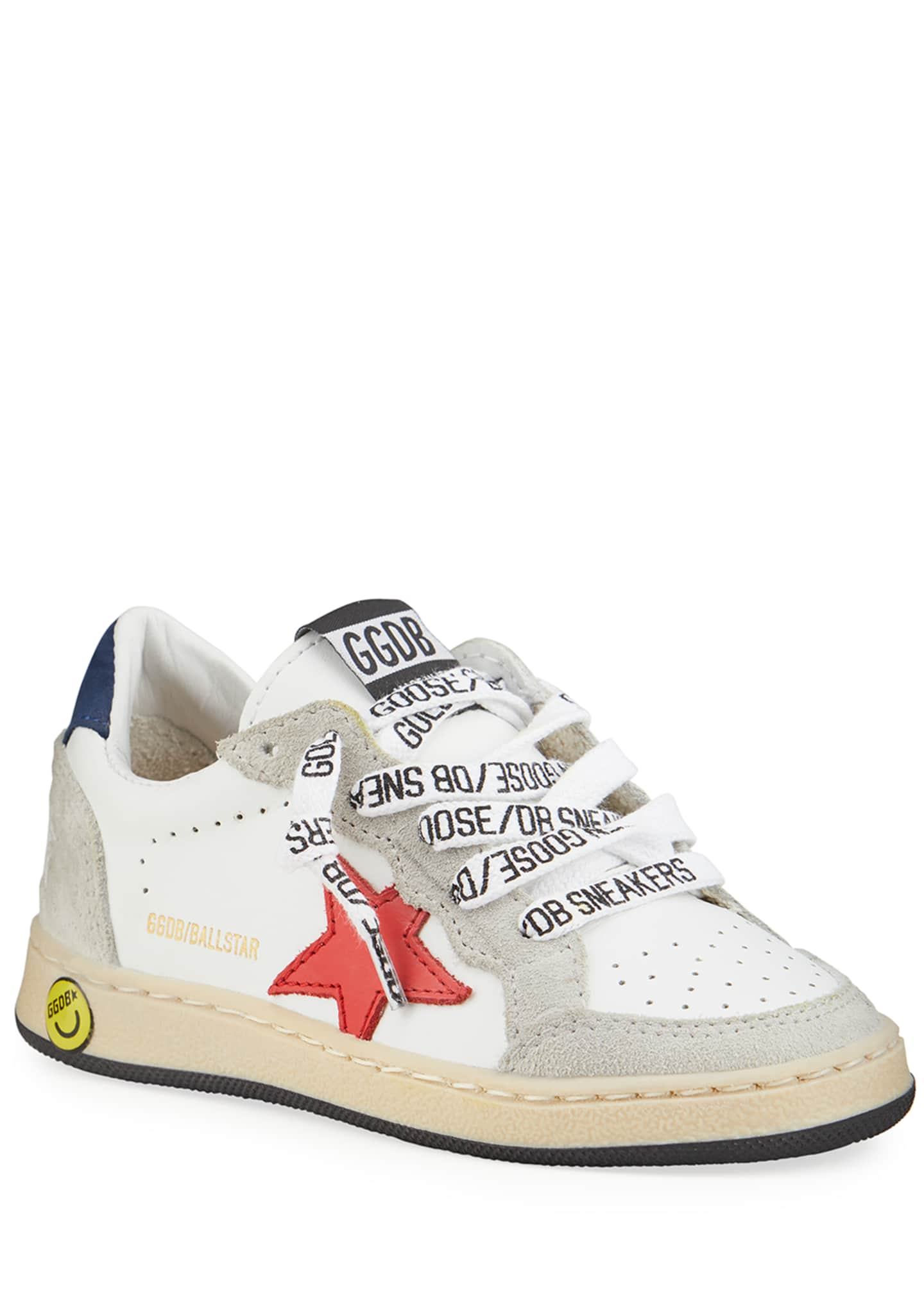 Image 1 of 4: Ball Star Leather Low-Top Sneakers, Baby/Toddler