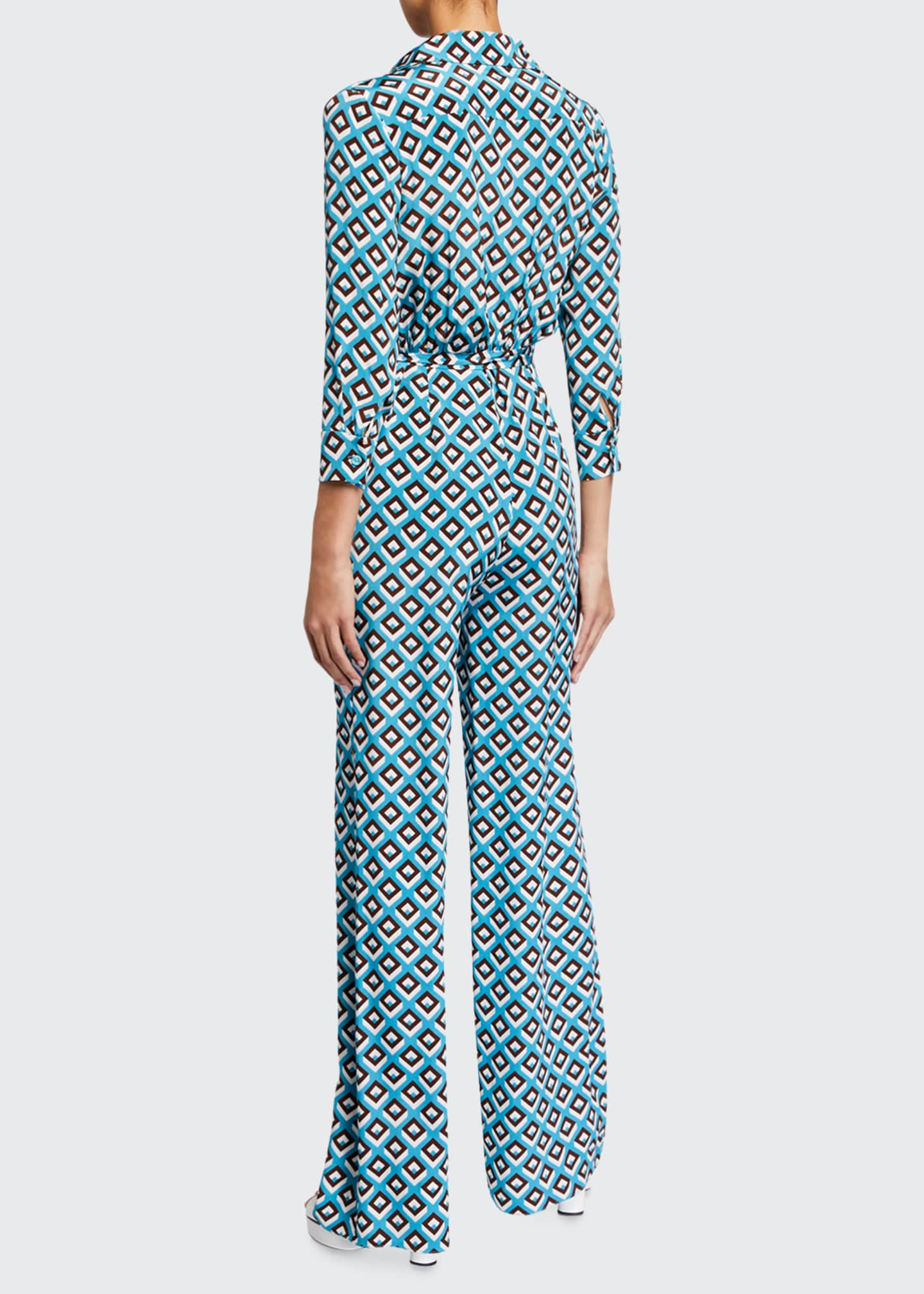 Image 2 of 2: Sandy Geo-Print Jumpsuit