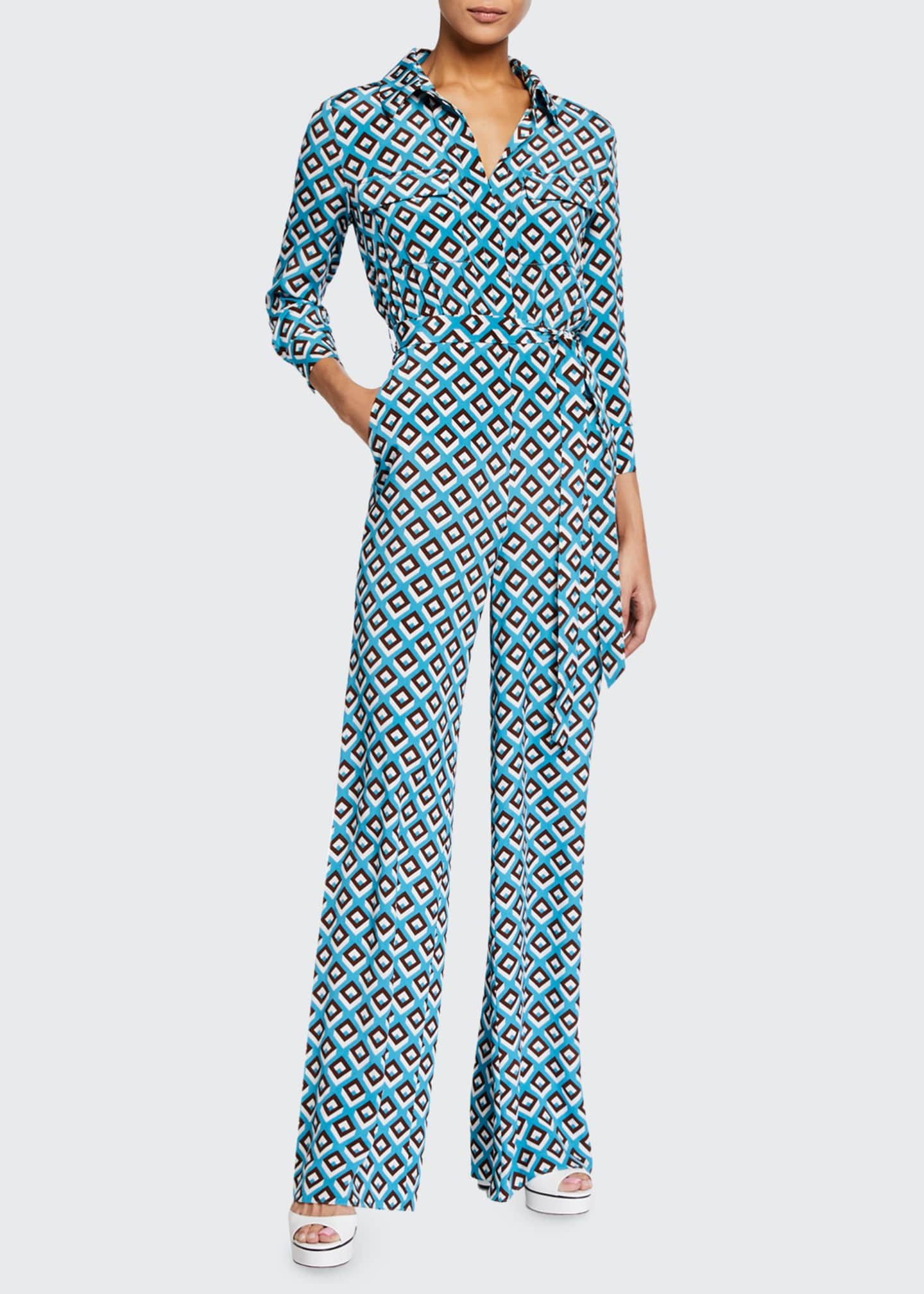 Image 1 of 2: Sandy Geo-Print Jumpsuit