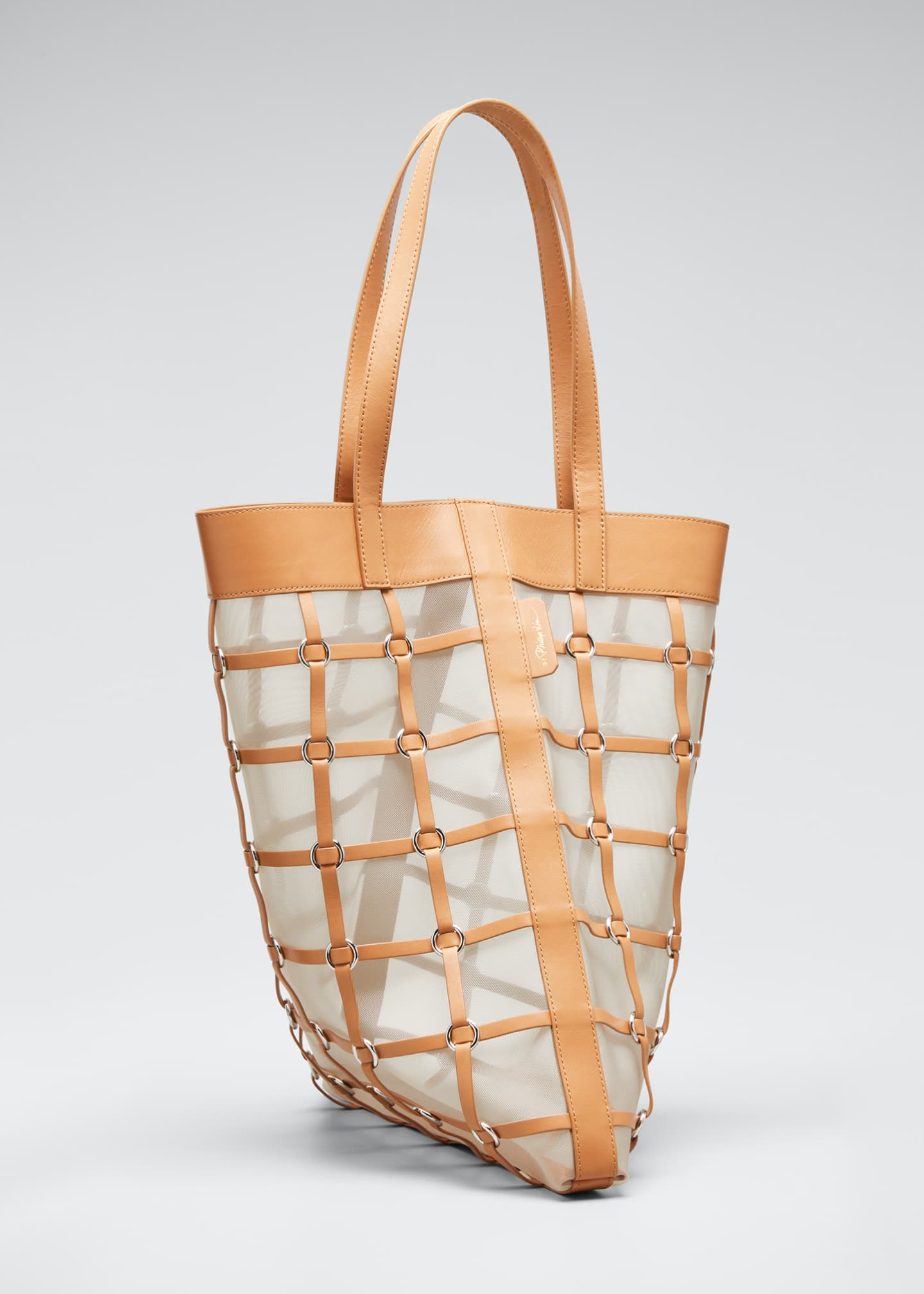 Image 3 of 5: Billie Medium Twisted Cage Tote Bag