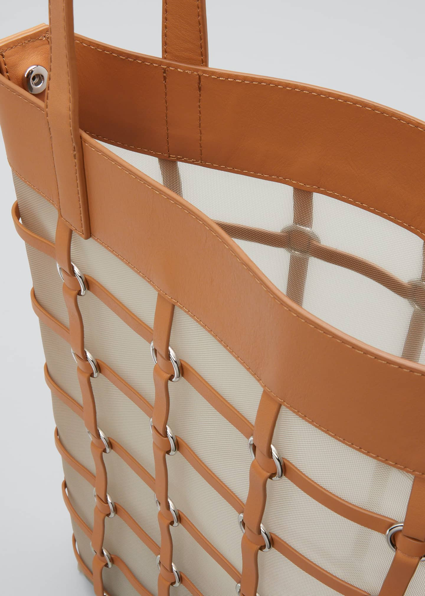 Image 4 of 5: Billie Medium Twisted Cage Tote Bag