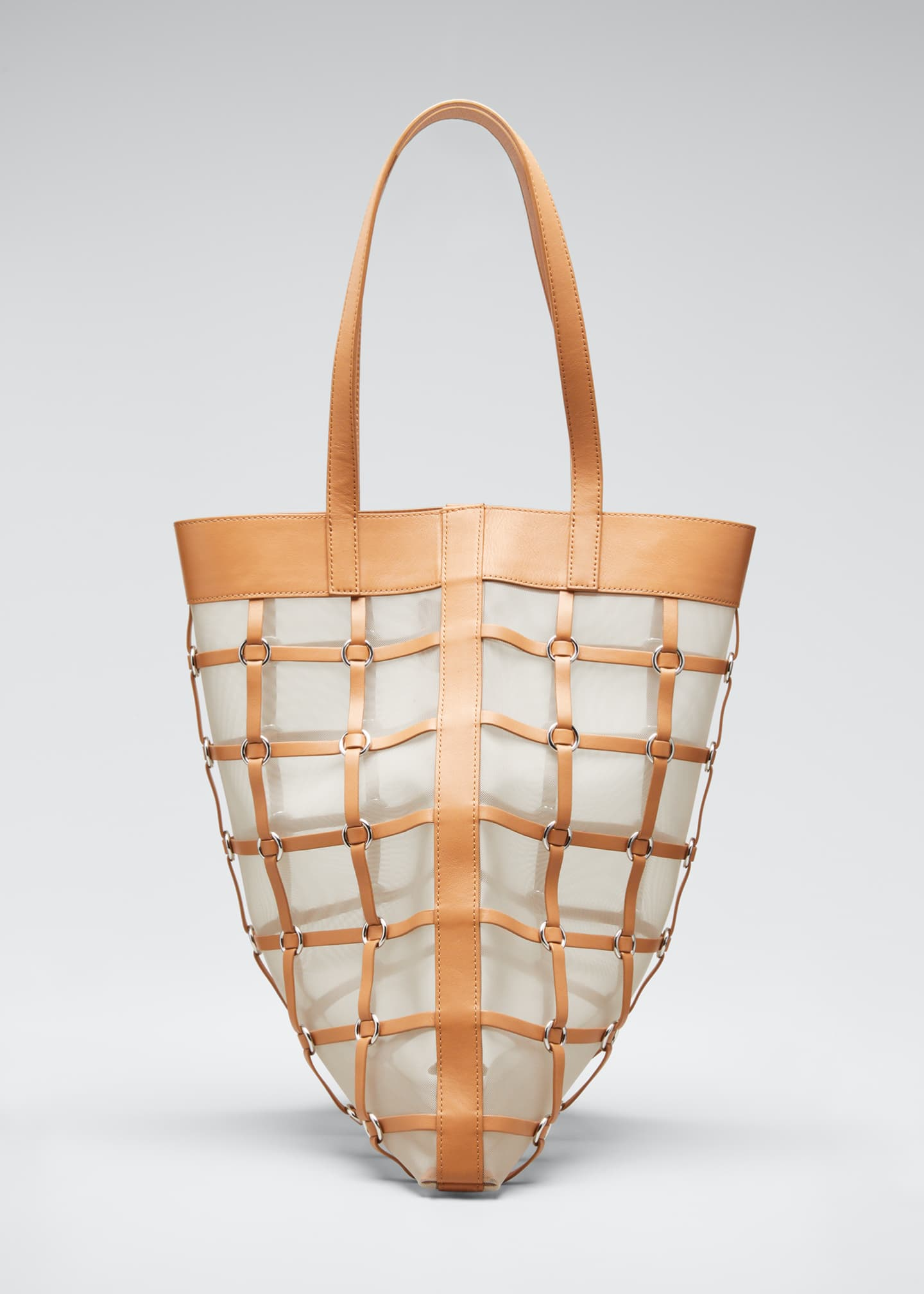 Image 1 of 5: Billie Medium Twisted Cage Tote Bag