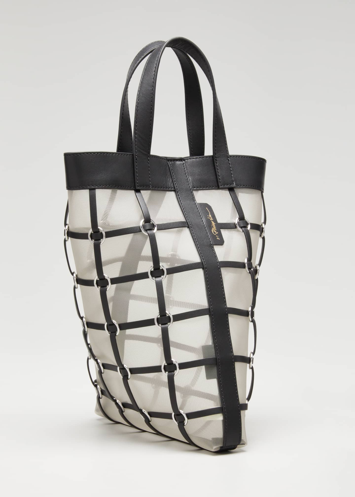 Image 3 of 5: Billie Mini Twisted Cage Tote Bag