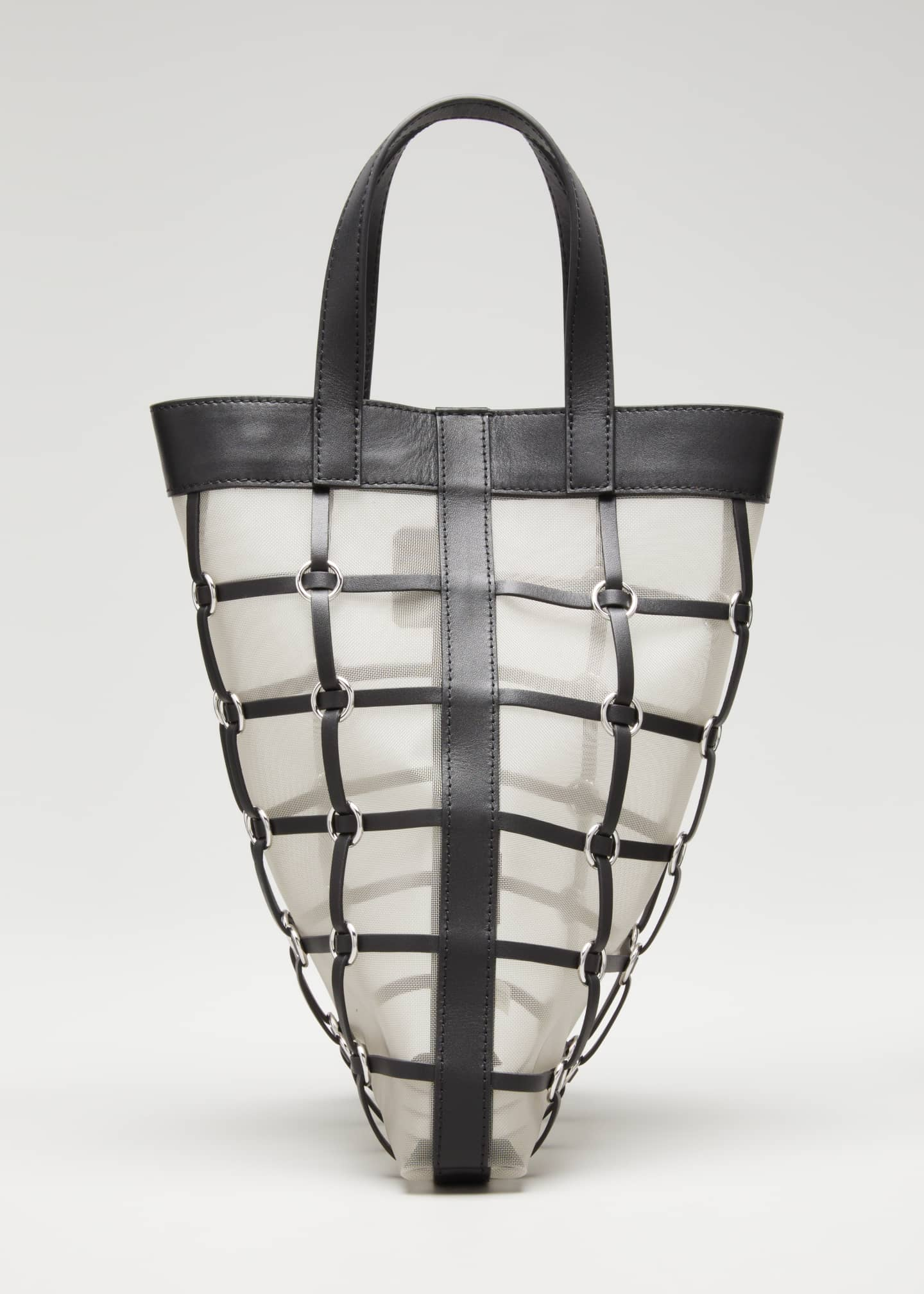 Image 1 of 5: Billie Mini Twisted Cage Tote Bag