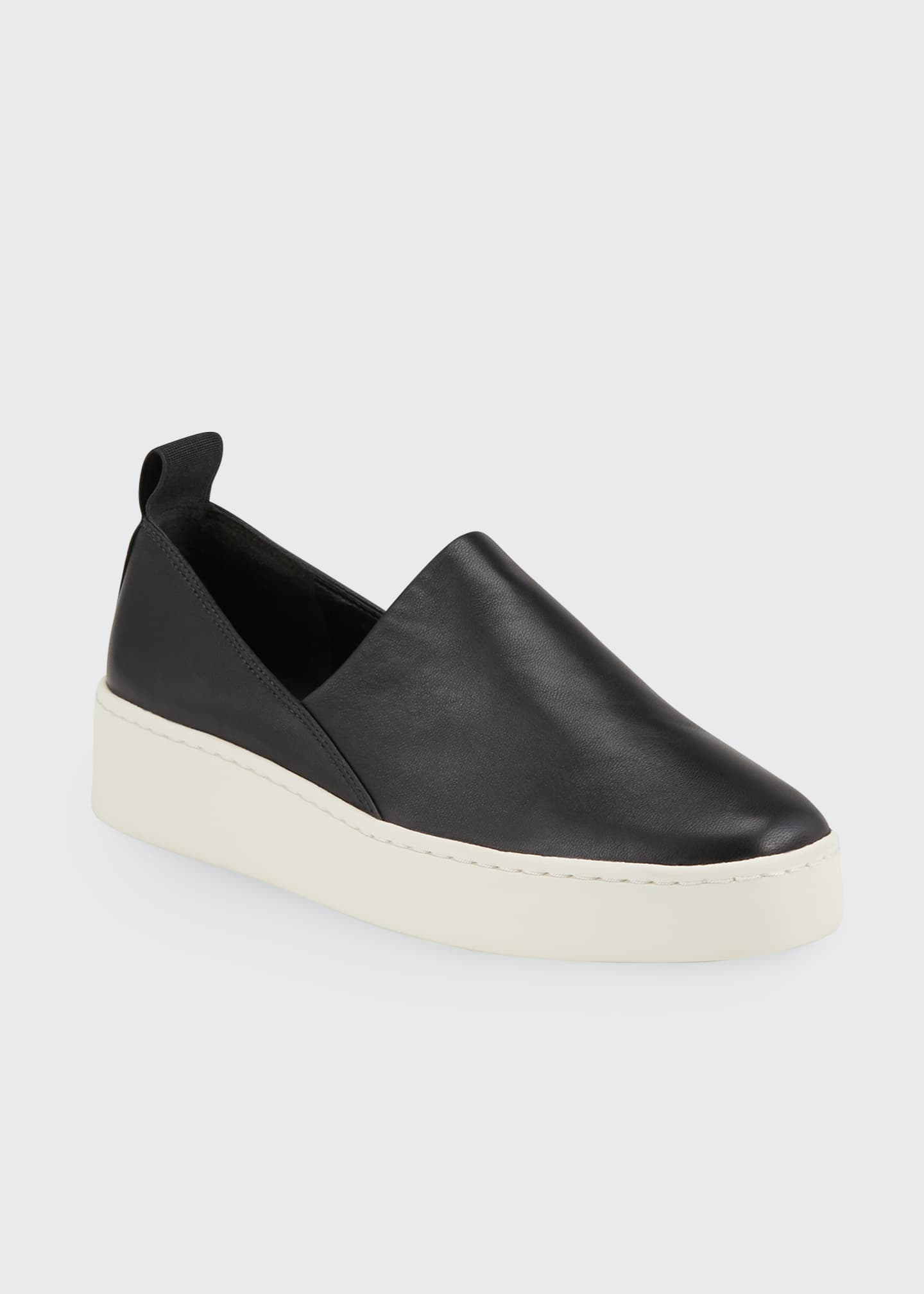 Image 1 of 2: Saxon Napa Leather Slip-On Sneakers