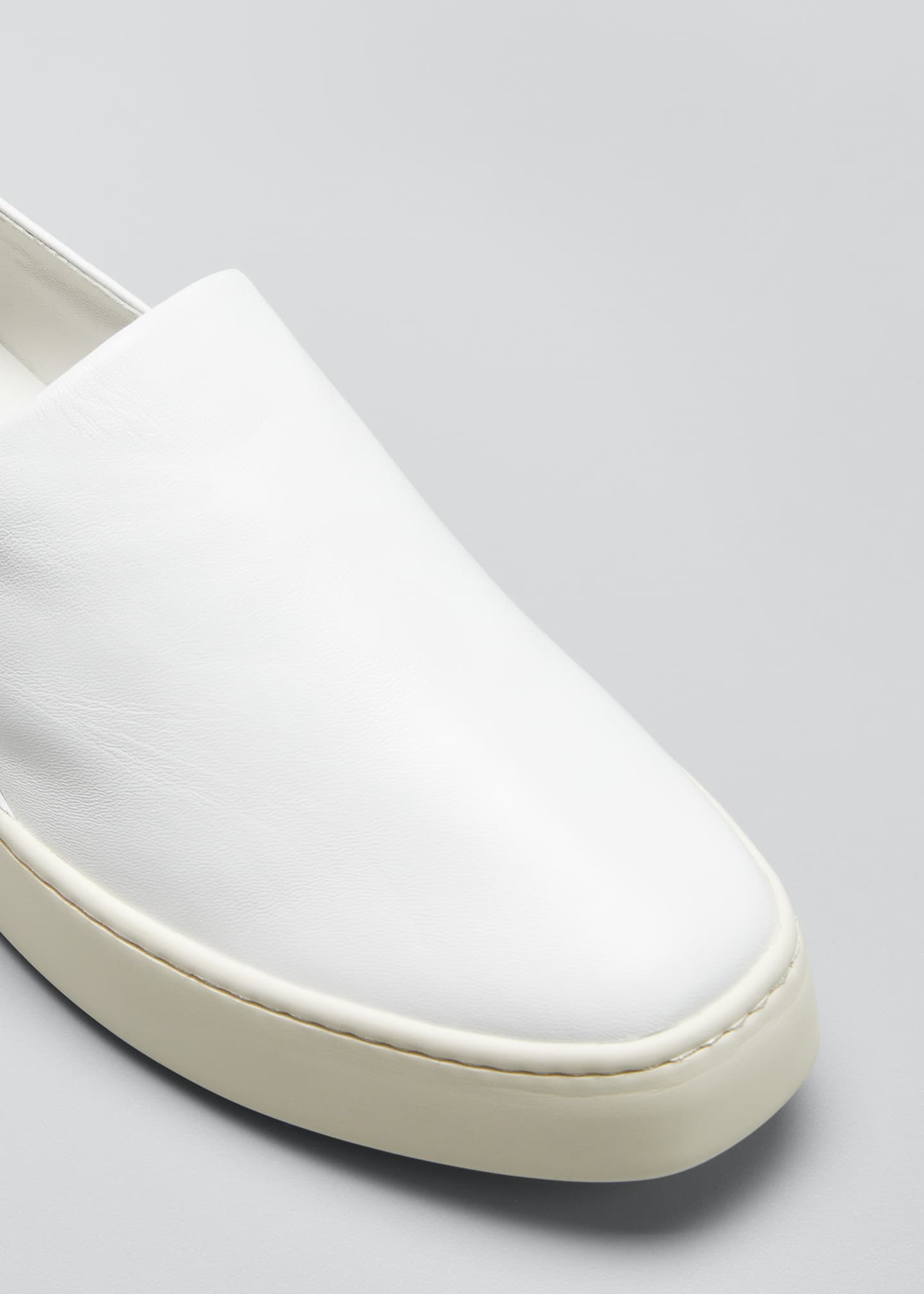 Image 2 of 2: Saxon Napa Leather Slip-On Sneakers