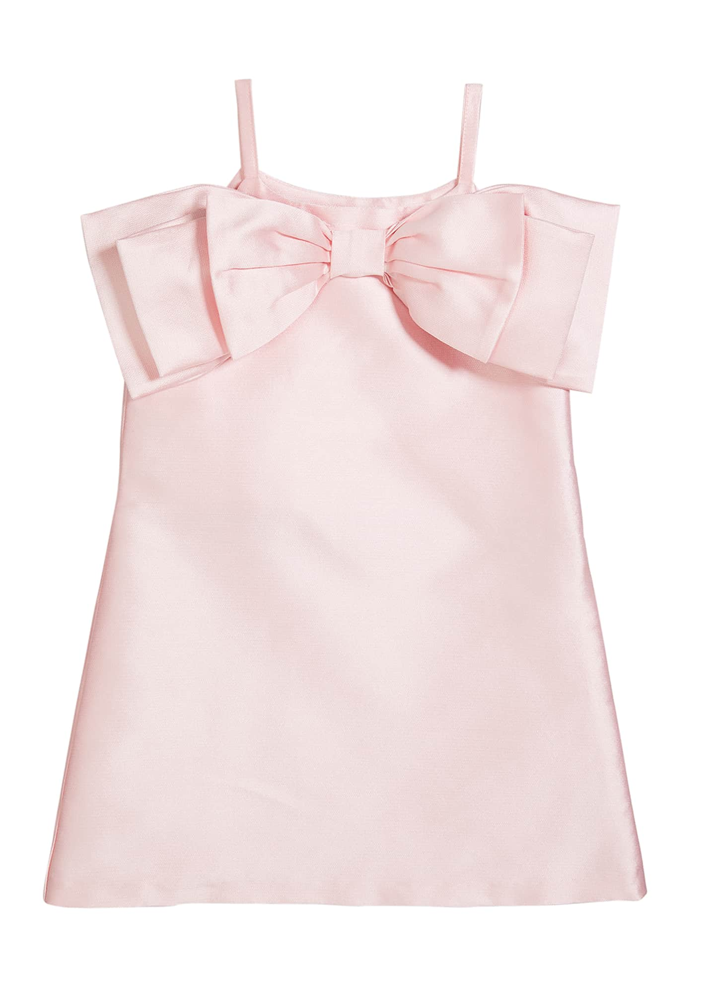 Girl's Big Bow Front Dress, Size 6-12