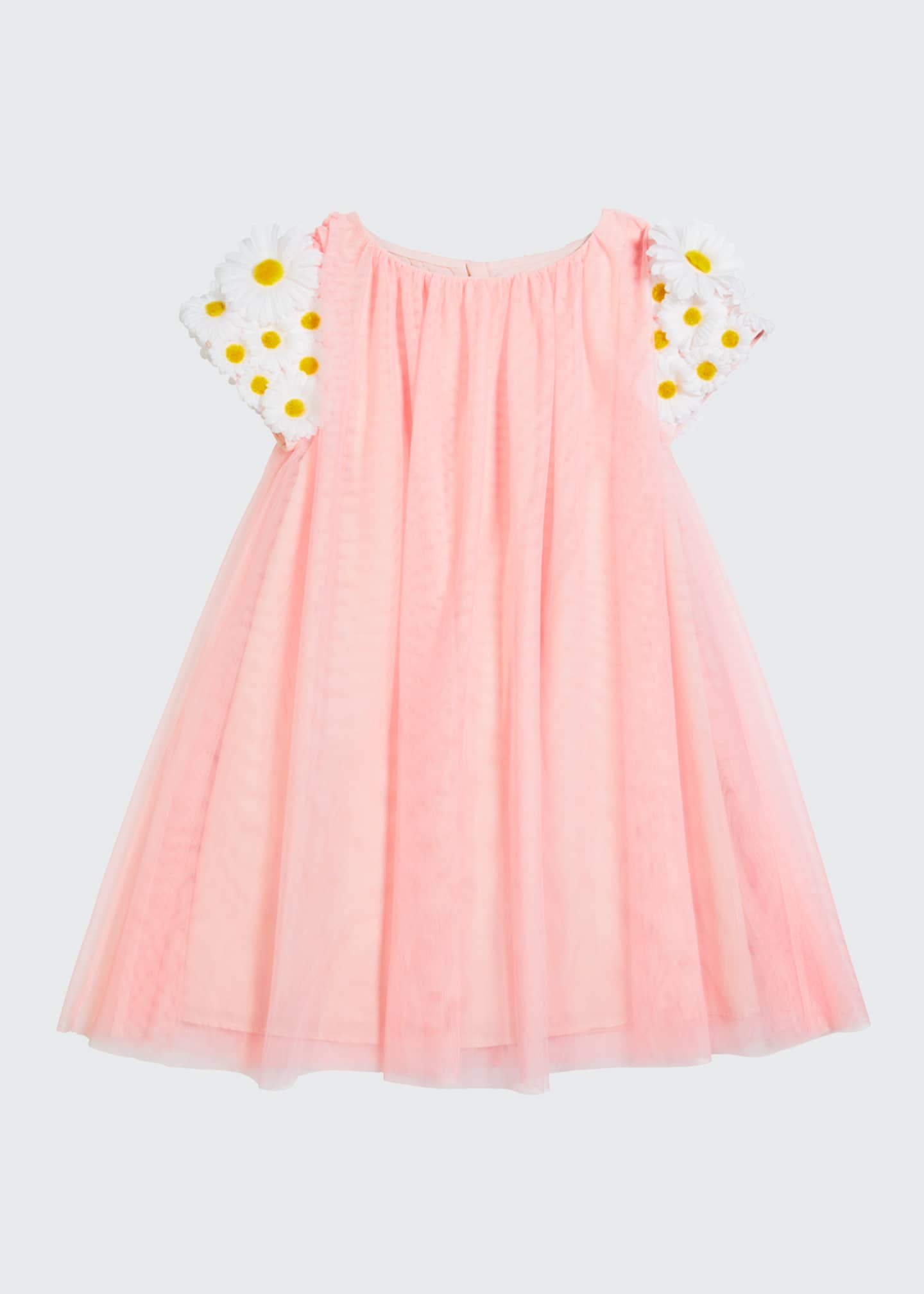 Image 1 of 1: Girl's Tulle 3D Butterfly Dress, Size 4-5