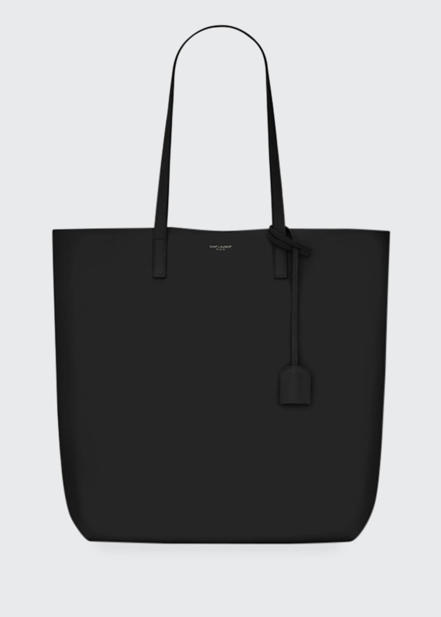 Image 1 of 1: Leather Shopper Tote Bag