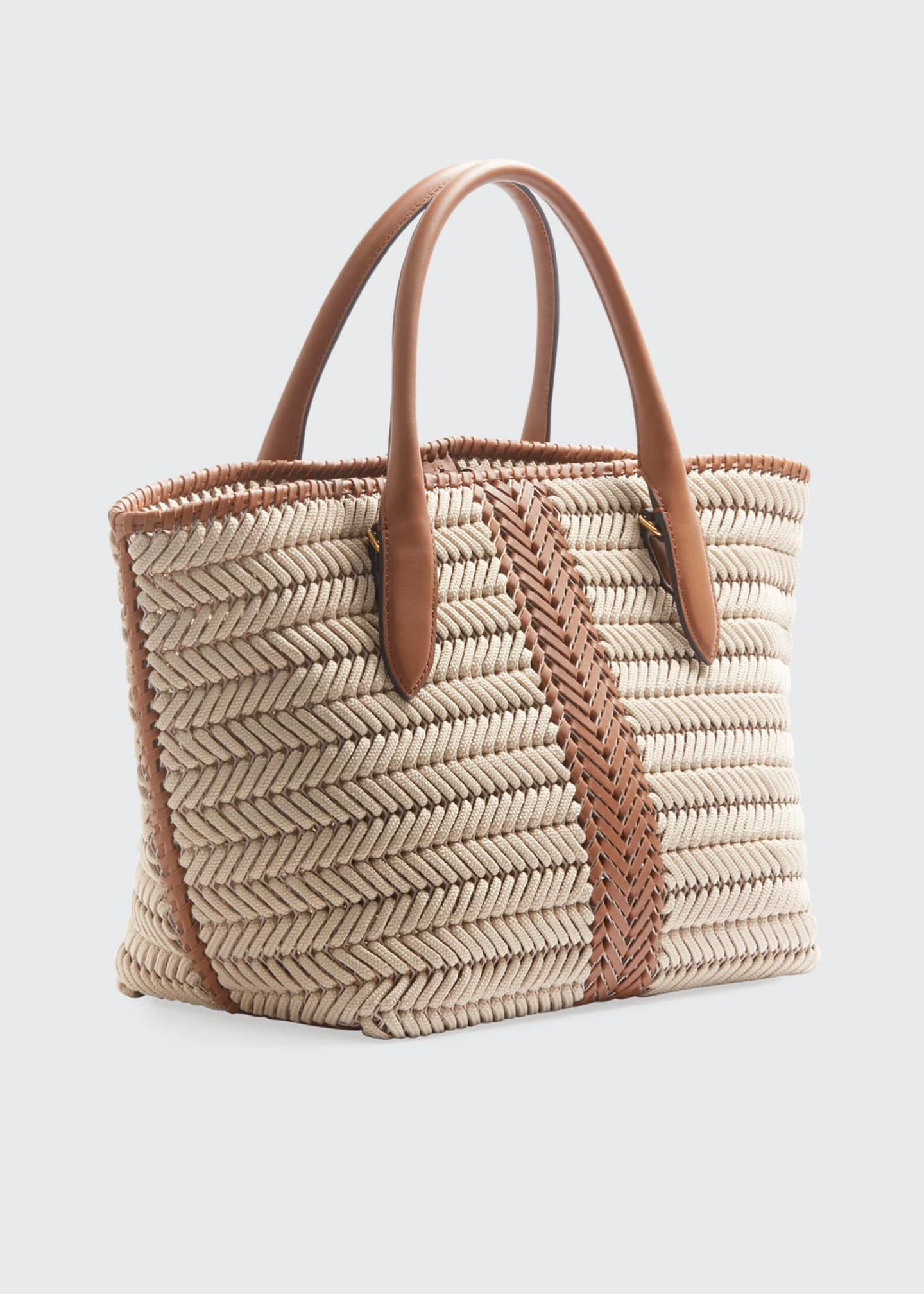 Image 2 of 3: The Neeson Woven Rope Tote Bag