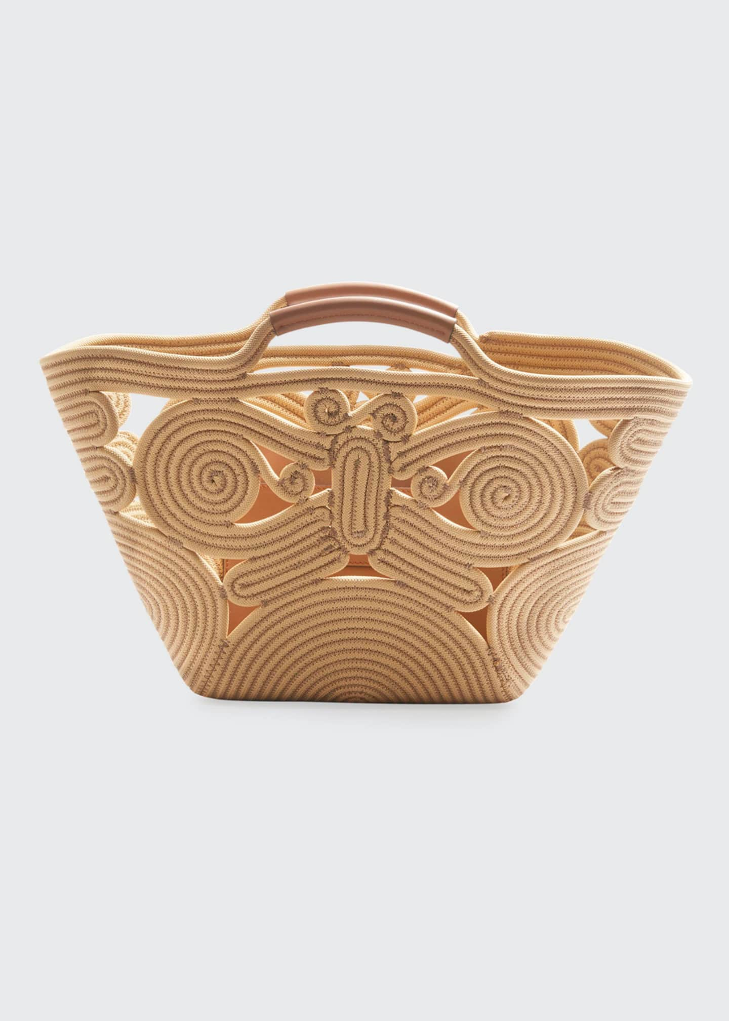 Image 1 of 3: Butterfly Woven Rope Tote Bag