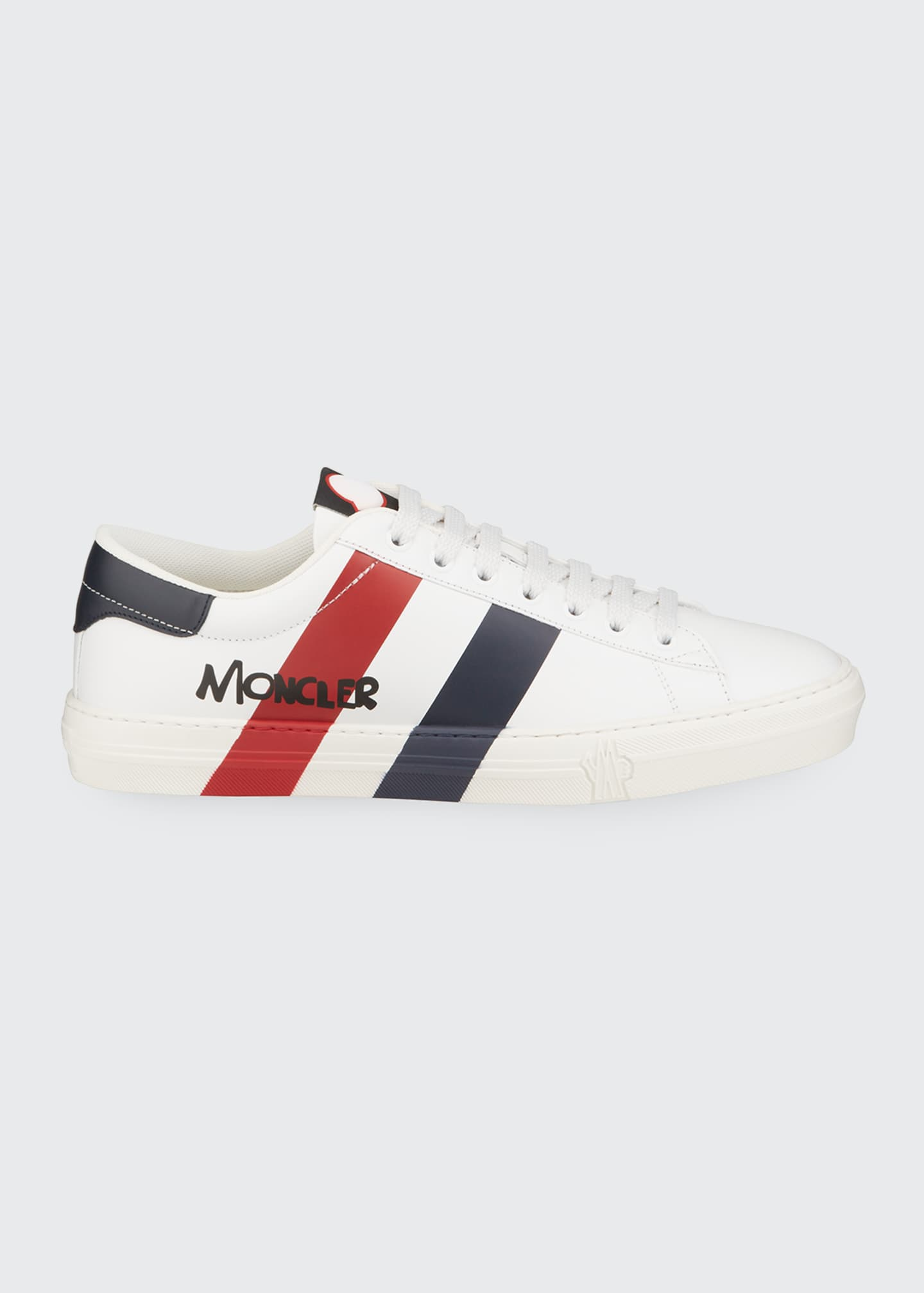 Image 3 of 4: Men's Signature Stripe Leather Low-Top Sneakers