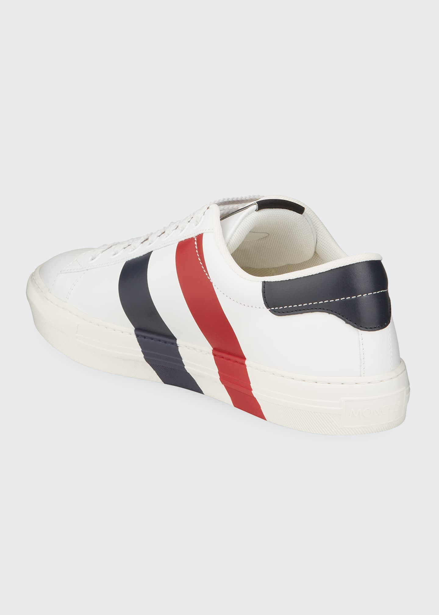 Image 4 of 4: Men's Signature Stripe Leather Low-Top Sneakers