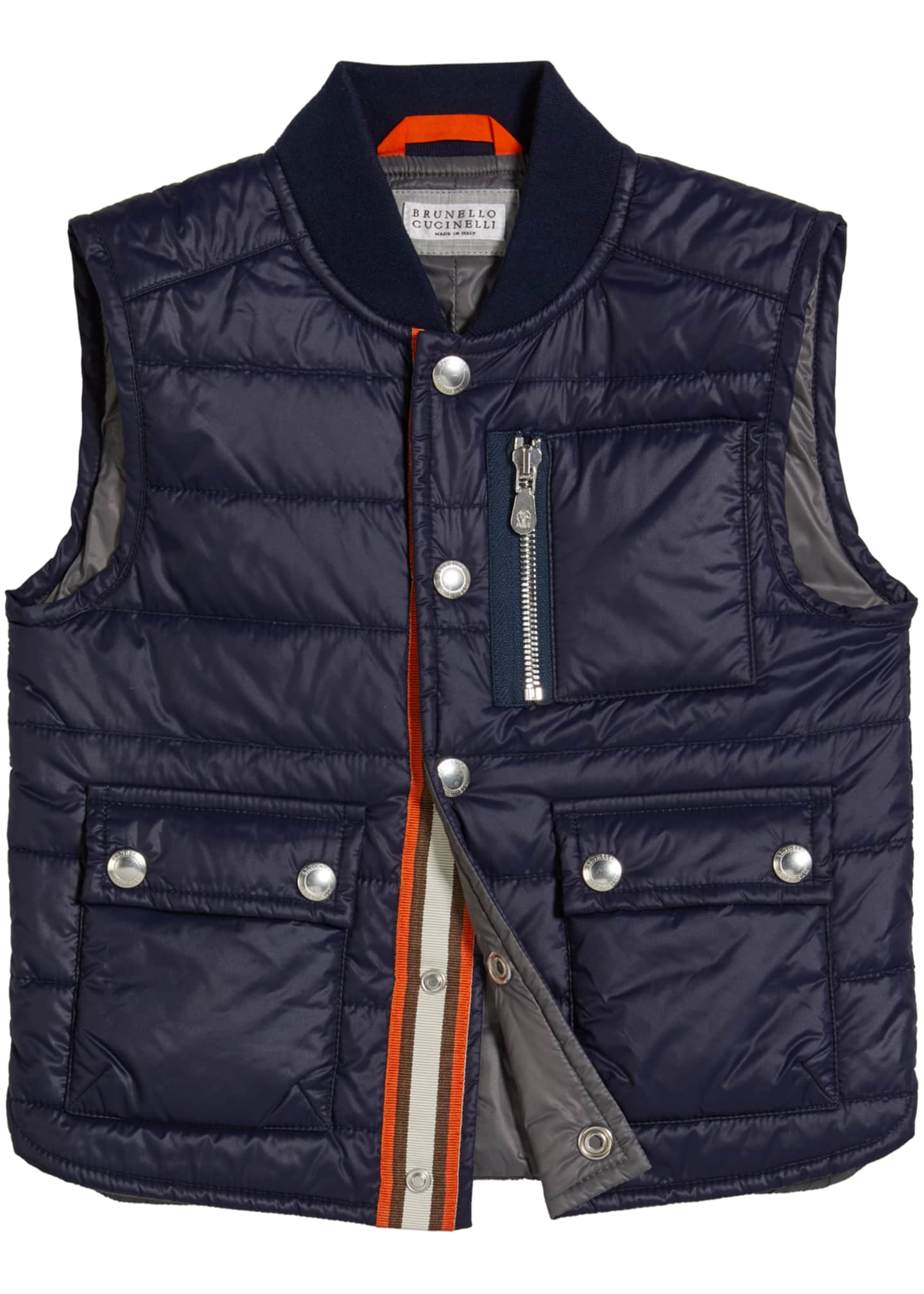 Image 1 of 2: Boy's Quilted Nylon Vest, Size 8-10