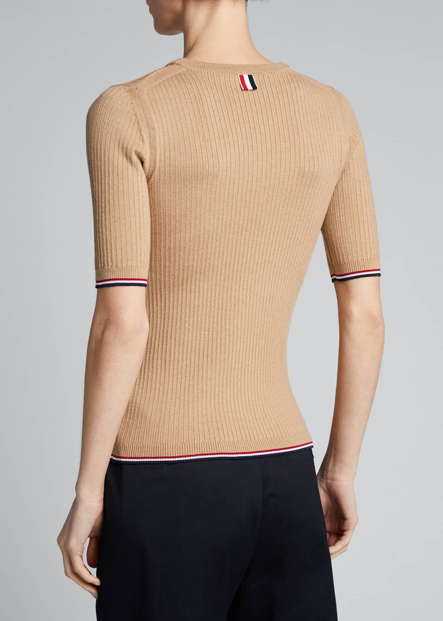 Image 2 of 5: Milano 1/2-Sleeve Ribbed Sweater