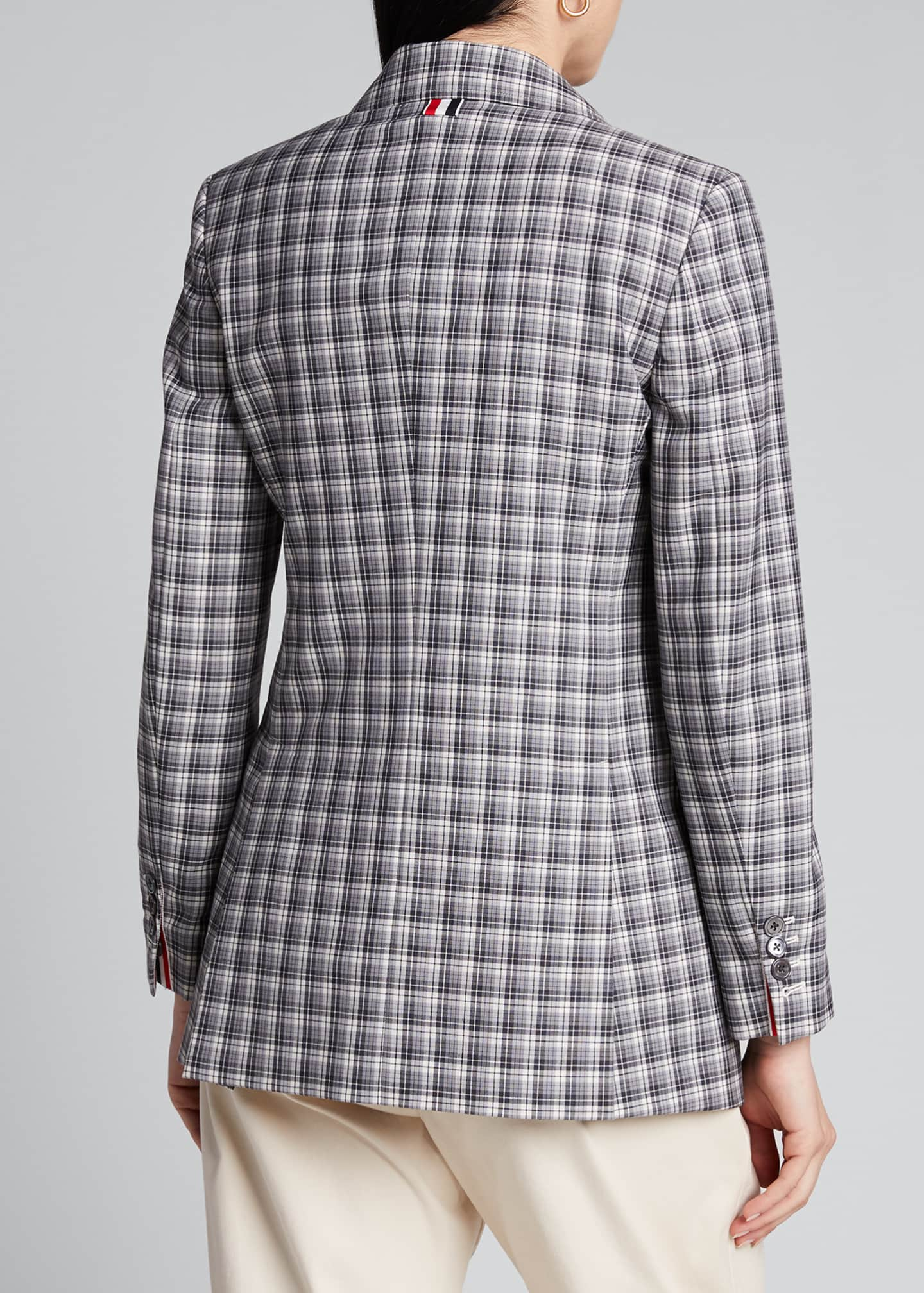 Image 2 of 5: Buffalo-Checked Wide-Lapel Suiting Jacket