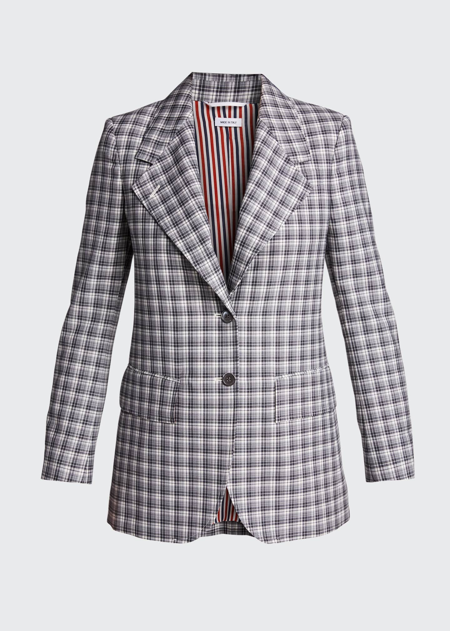 Image 5 of 5: Buffalo-Checked Wide-Lapel Suiting Jacket
