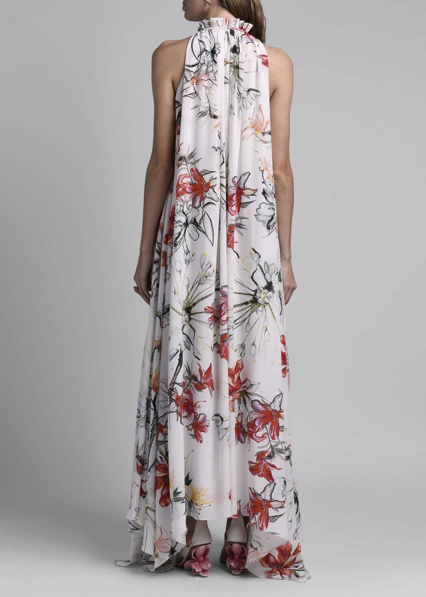 Image 2 of 4: Floral Print Halter Dress