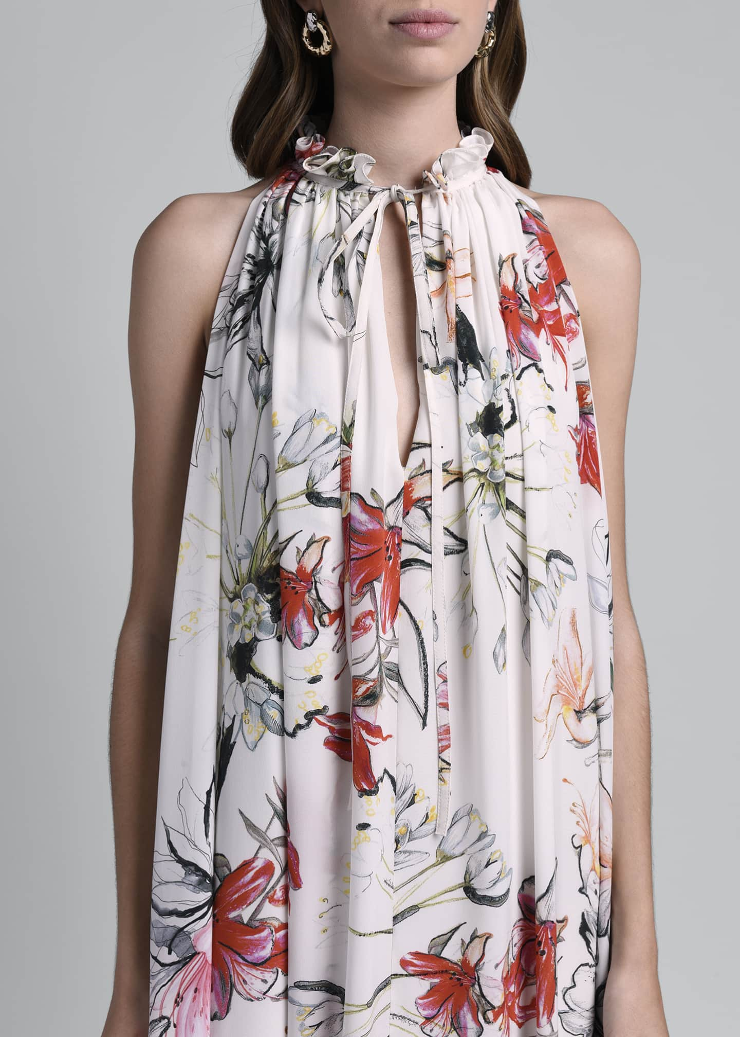 Image 4 of 4: Floral Print Halter Dress