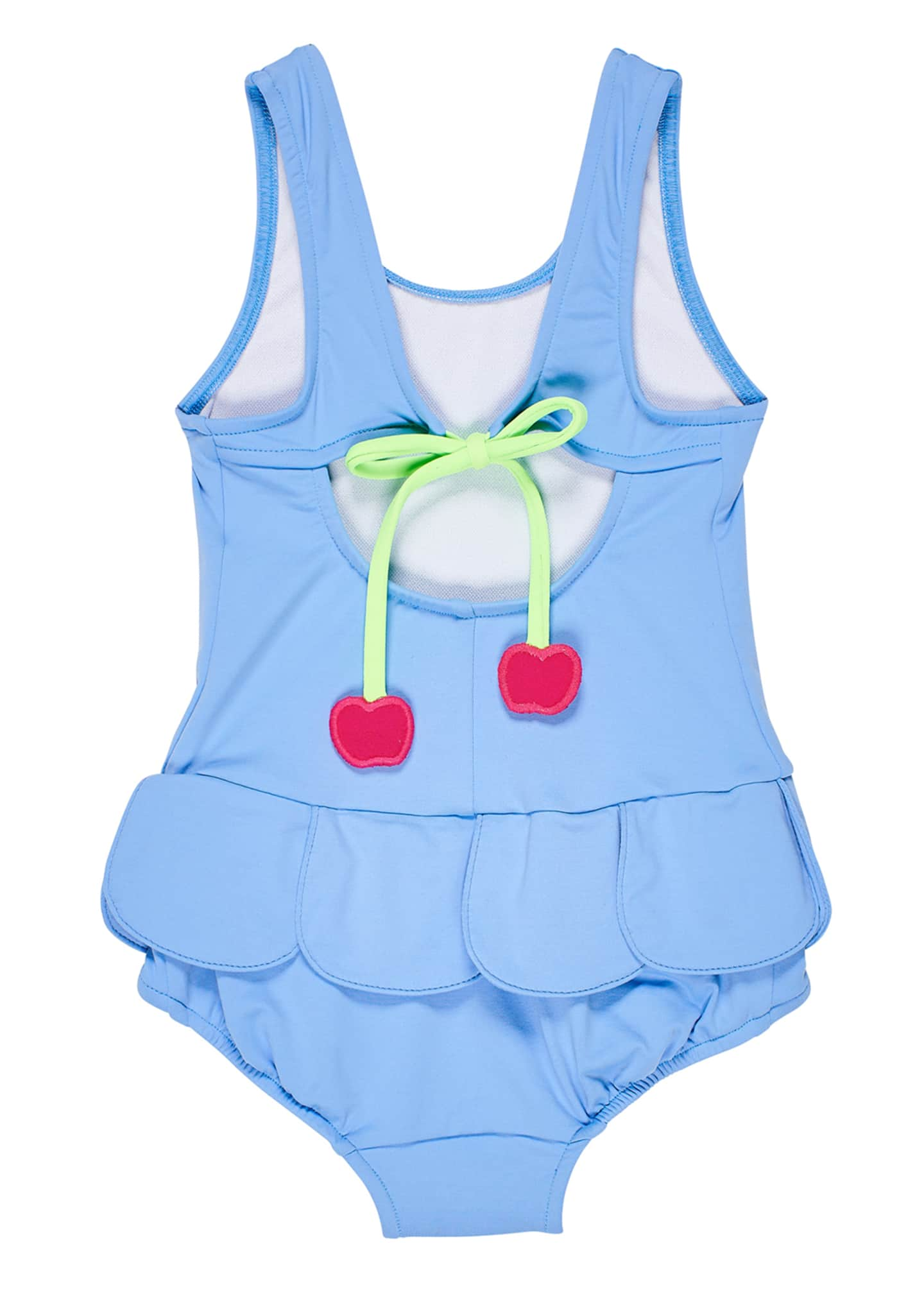 Image 2 of 2: Girl's Petal Skirt One-Piece Swimsuit, Size 6-24 Months