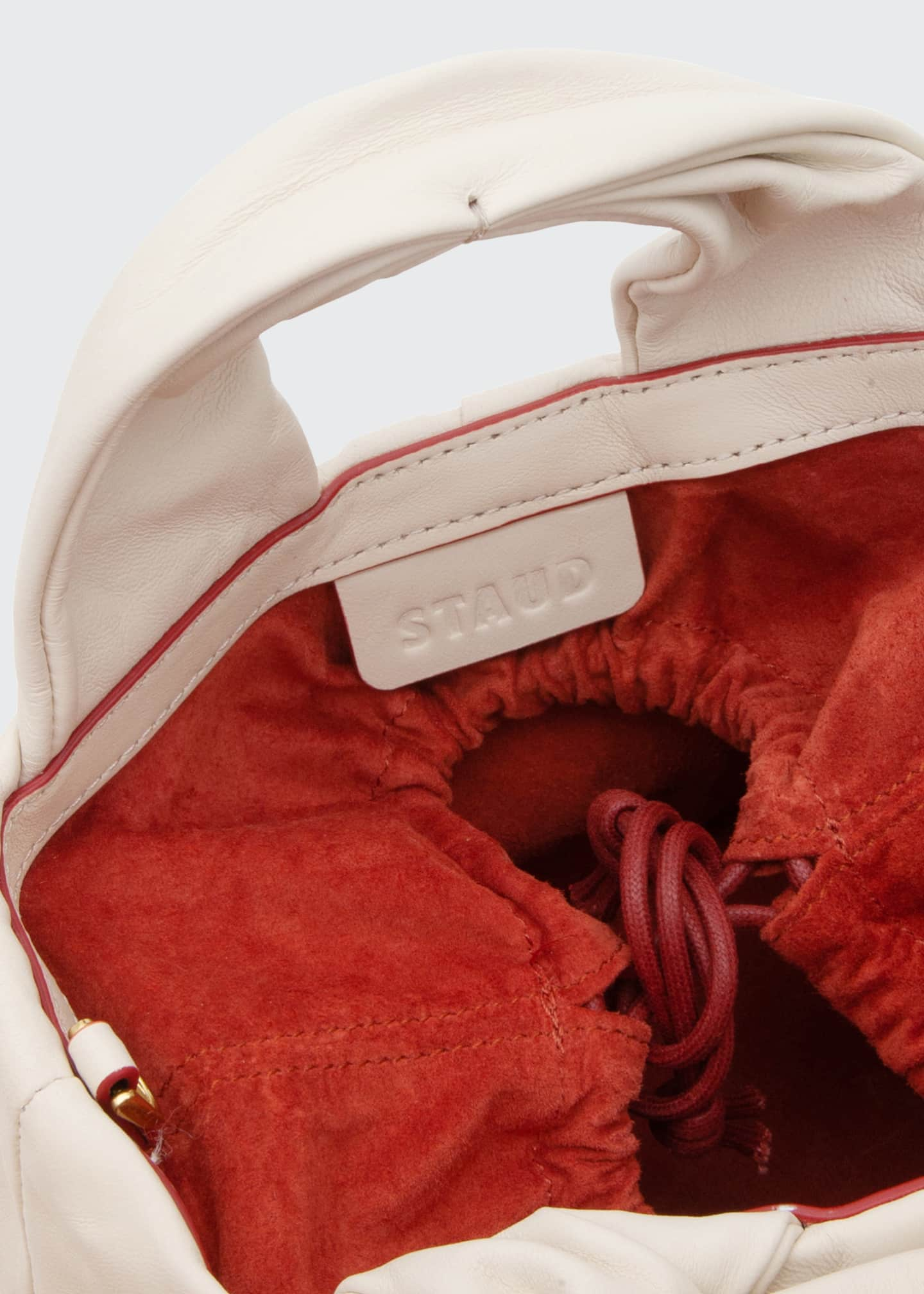 Image 5 of 5: Lera Leather Top-Handle Bag