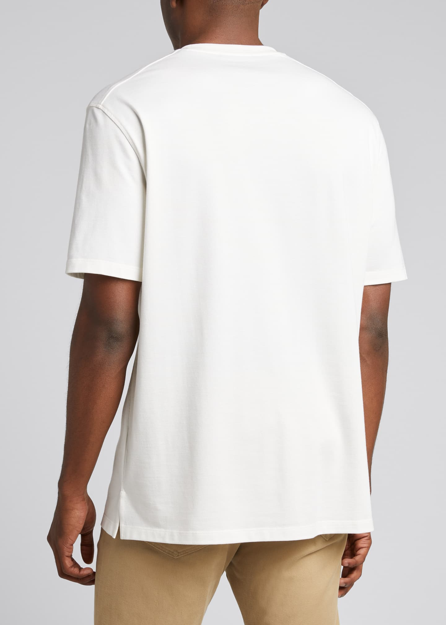 Image 2 of 5: Men's Solid Stretch Tee