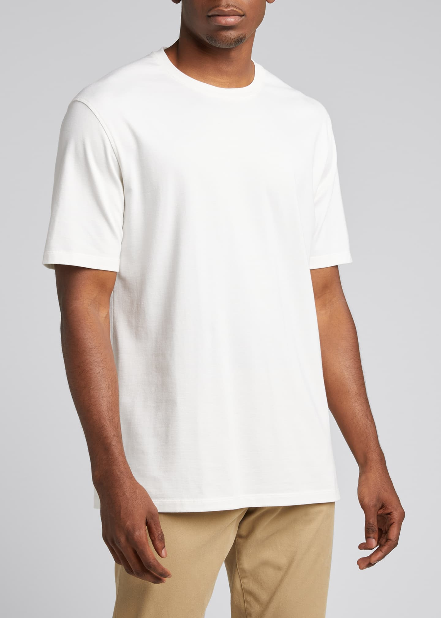Image 3 of 5: Men's Solid Stretch Tee