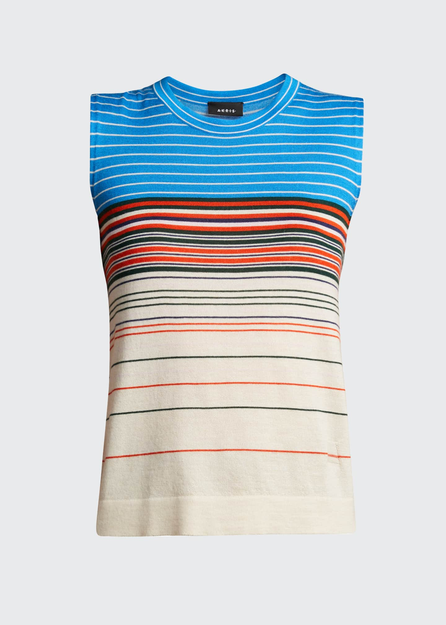 Image 5 of 5: Horizontal Stripe Cashmere Tank