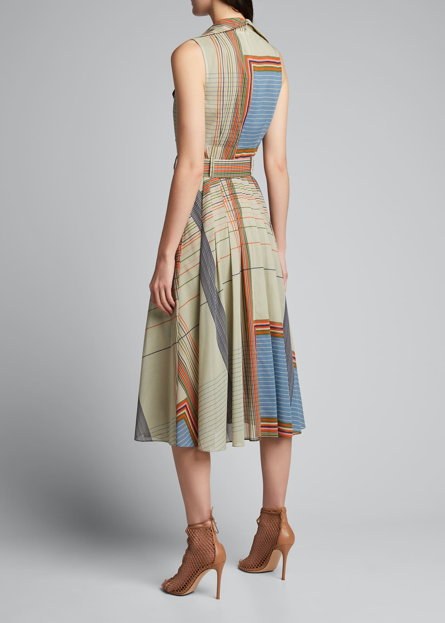 Image 2 of 5: Scarf-Print Trench Dress