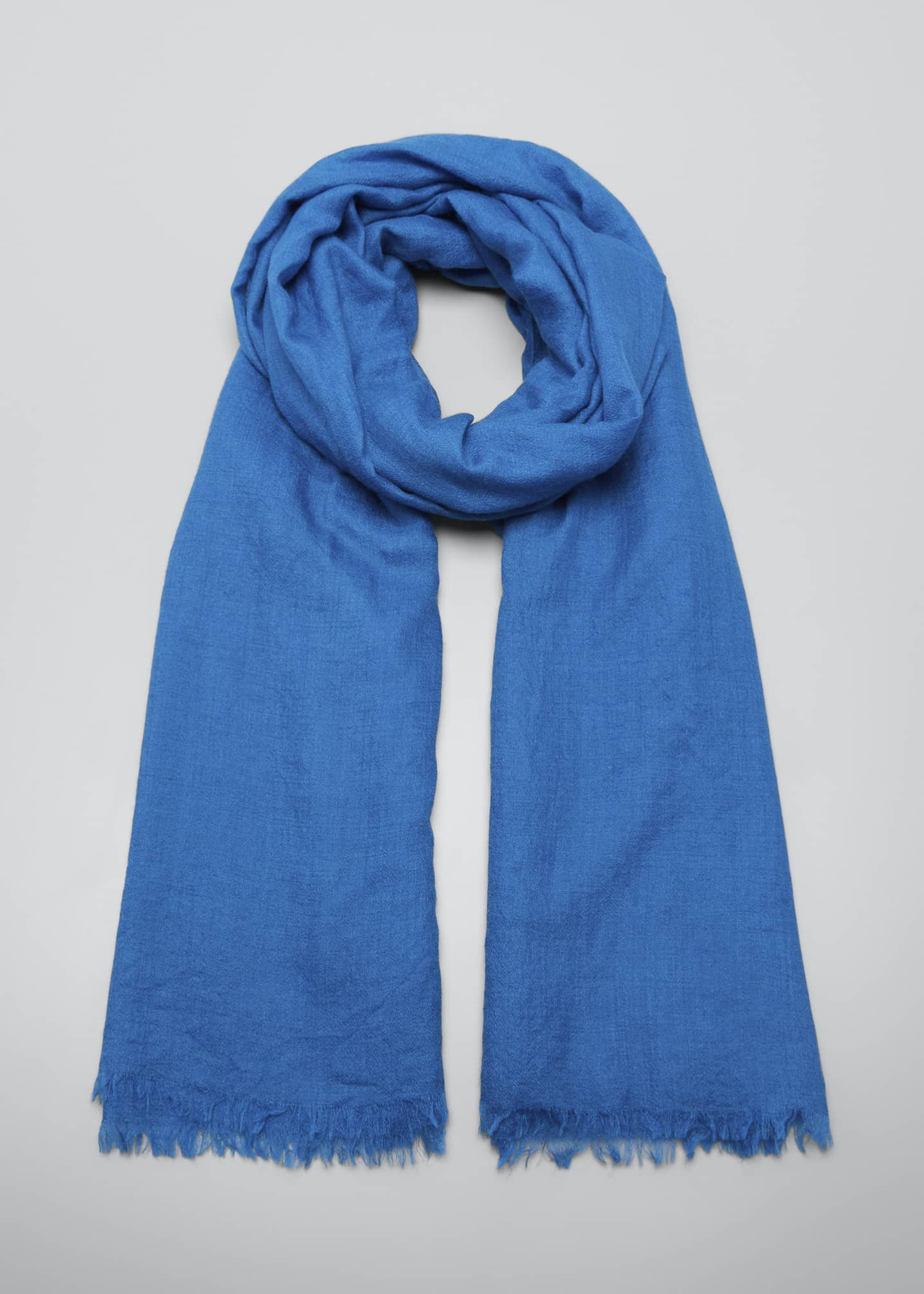 Image 1 of 4: Cashmere/Silk Scarf with Fringe