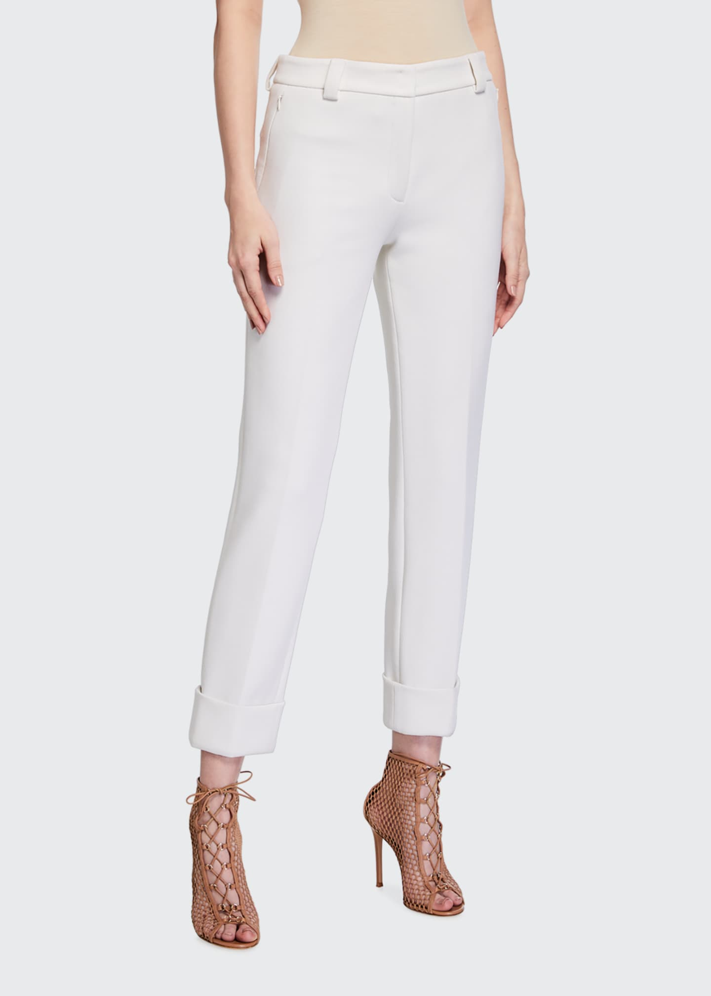 Image 1 of 5: Maxima Slim-Fit Cropped Pants